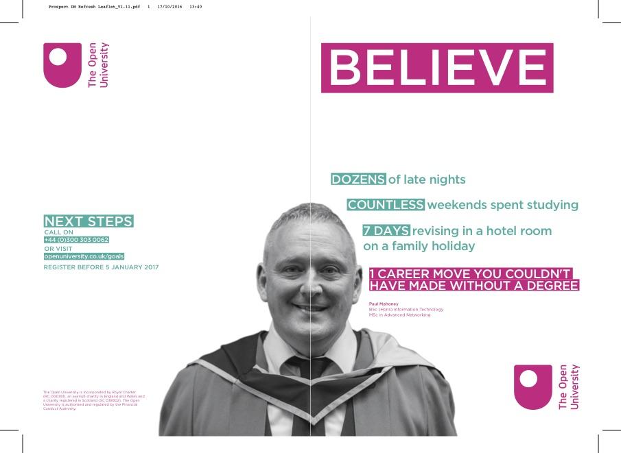 Direct mail leaflet design