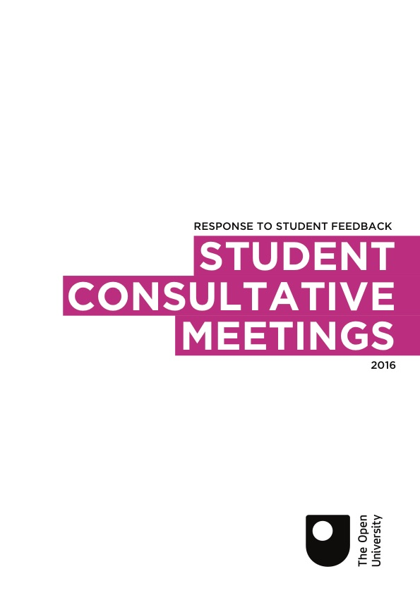 A document used for a student consultative meeting between OU staff and students