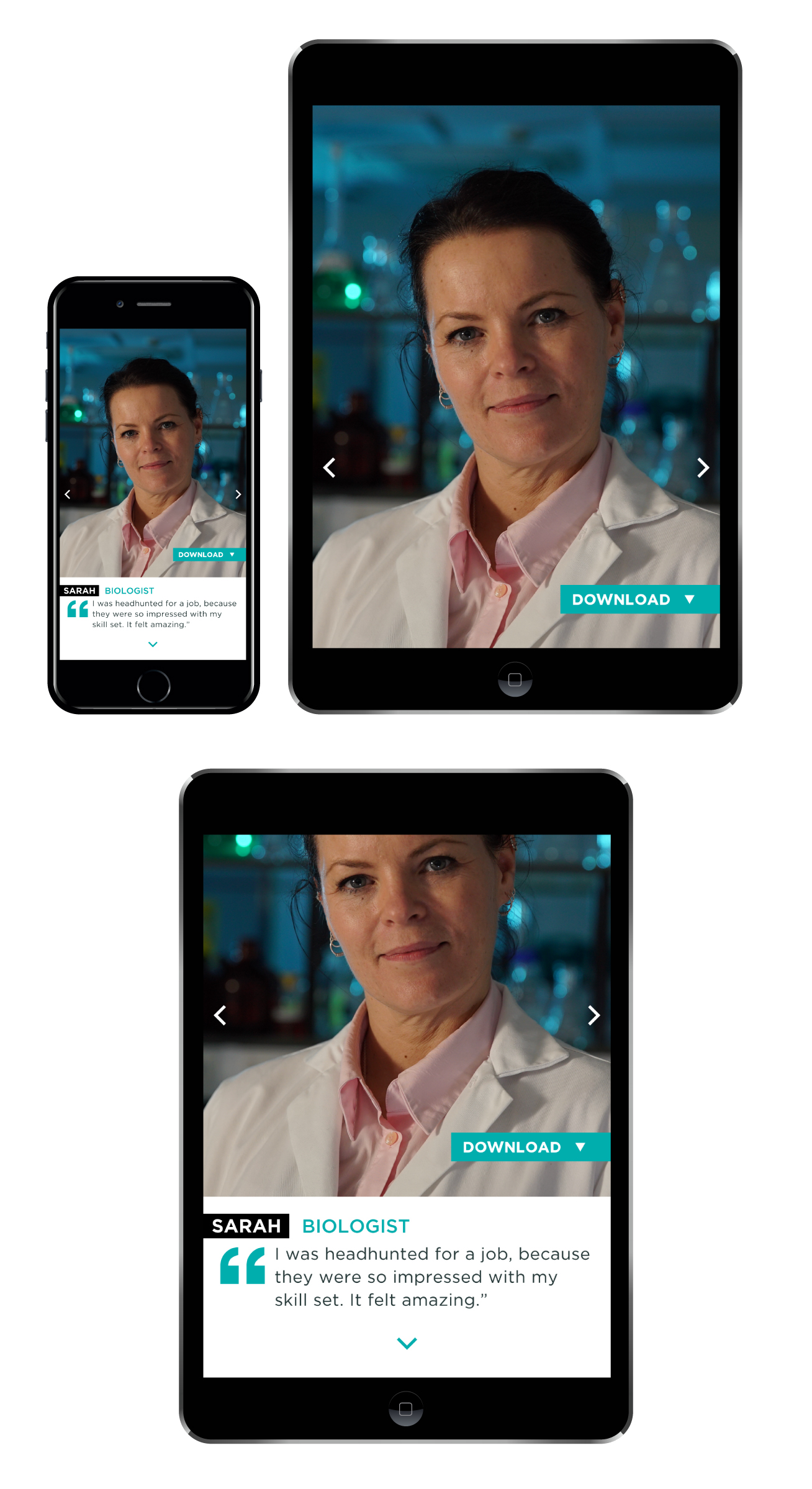 How the images display on mobile and tablet