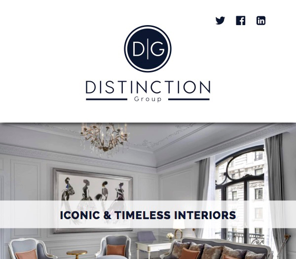 Distinction Group. A high-end furniture retailer for hotels & home. Click to view more