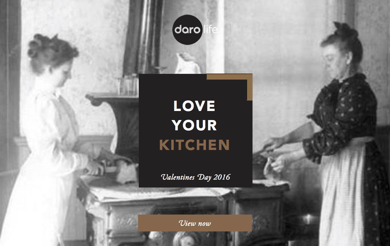 Daro is a company that sells high end kitchen fittings and furniture. Click to explore the email layouts in full