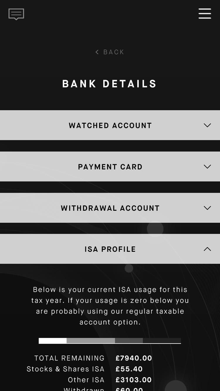 15.4 Bank details 'ISA Profile' screen.png
