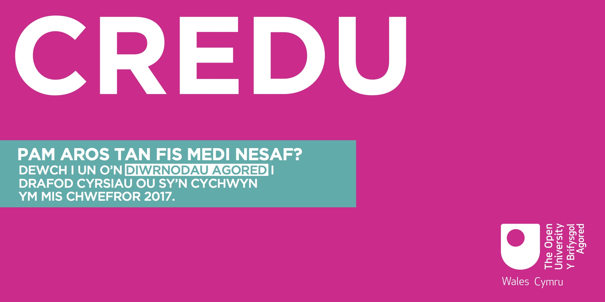 A creative piece used for Facebook promoting the Wales Open Days - 2/2