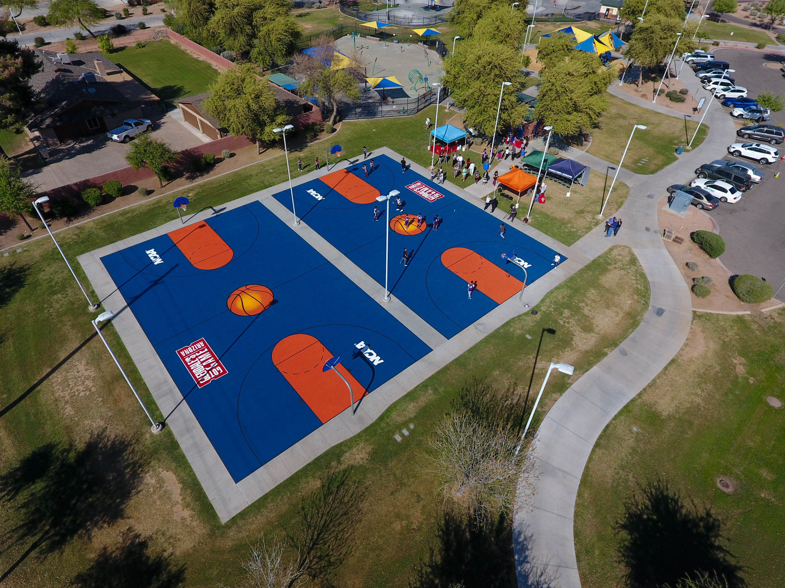 Aerial Footage via Elite Sports Builders - Glendale Heroes Regional Park