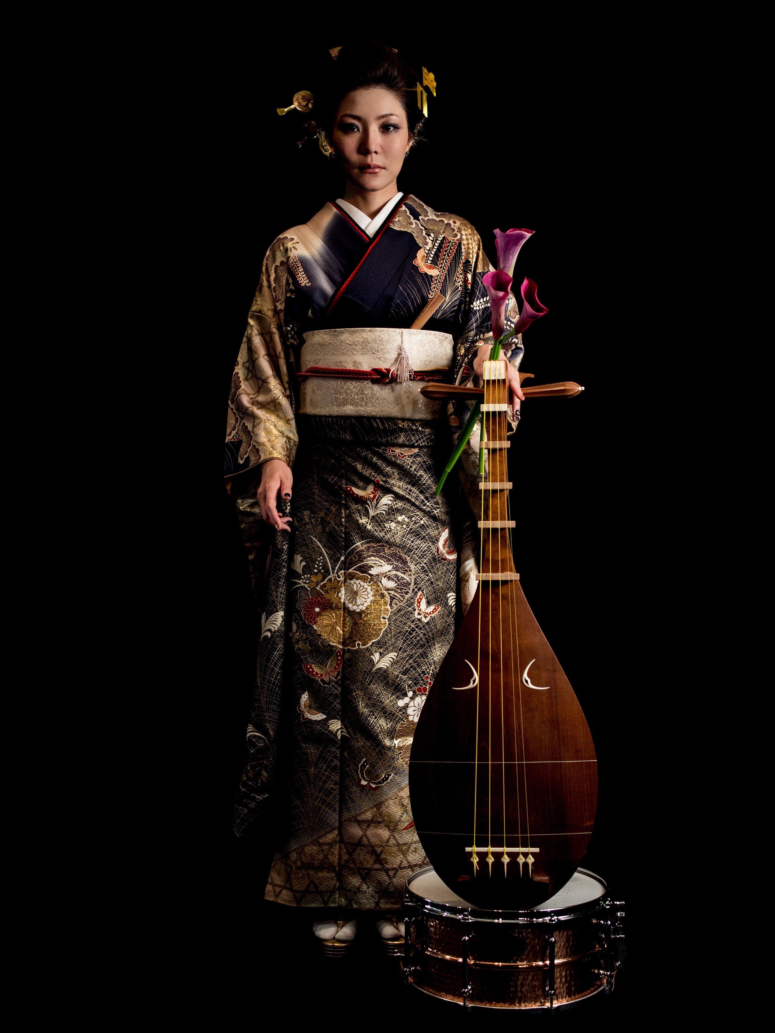 おなじく、olympus PEN E-P5によるYUIKO MIZUSHIMA (BIWA)とPearlのTOSHI 永井モデルのスネア。