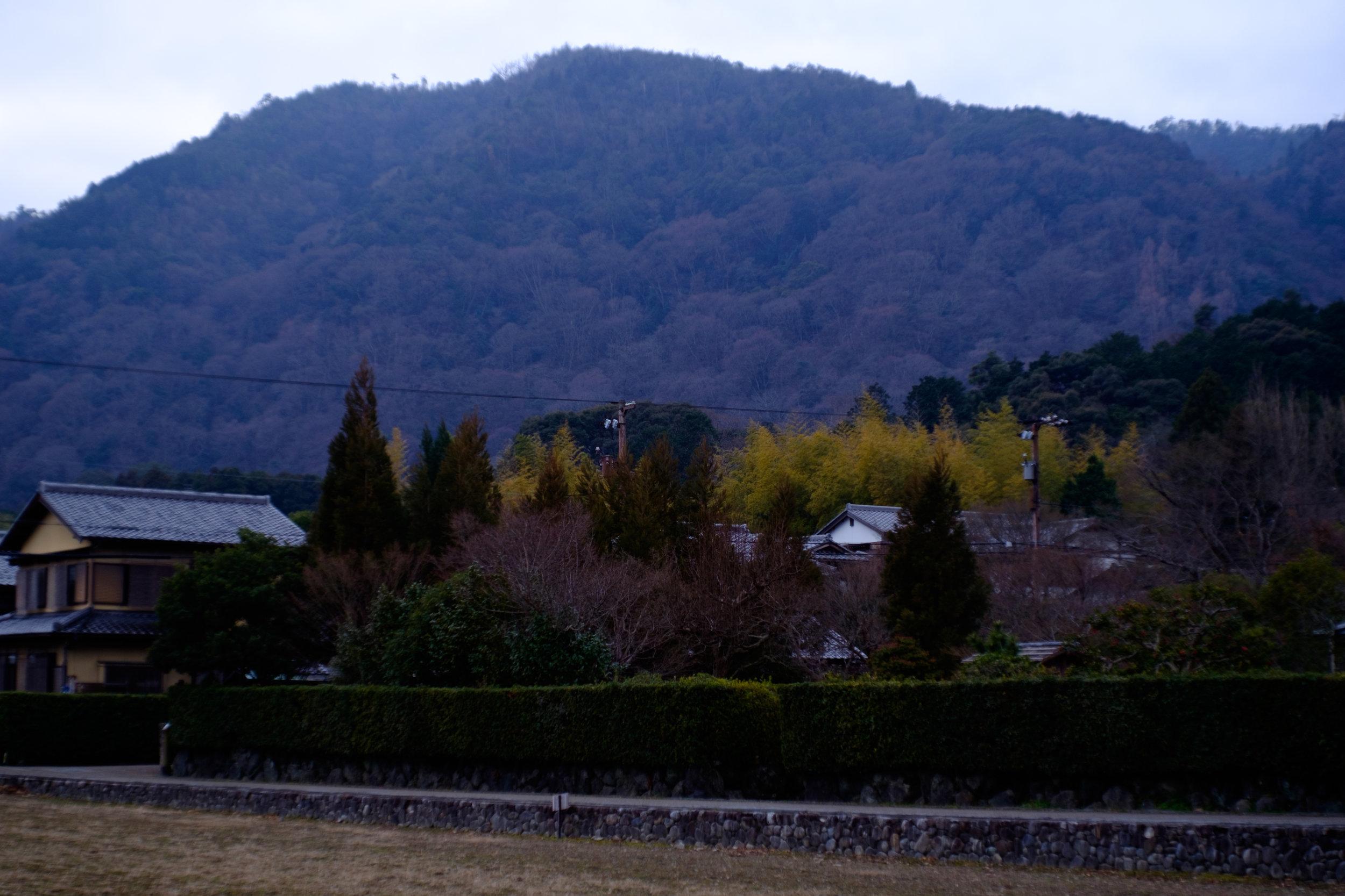奥嵯峨、落柿舎から常寂光寺方面を望む。誰もいない静かななか歩みつつ考えるのは音楽のことばかりなり、なのでございました。