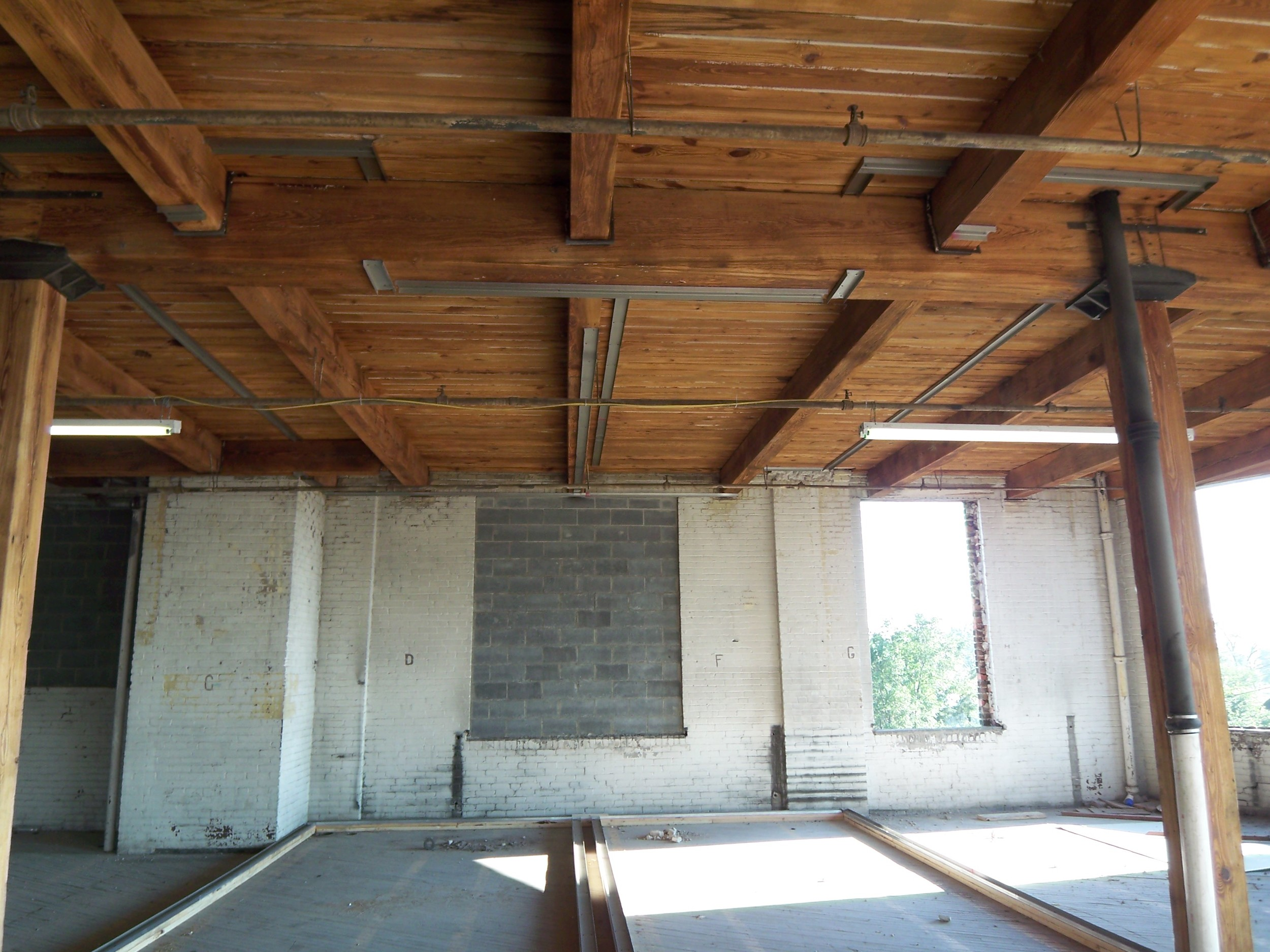 Timber frame and ceilings after restoration.