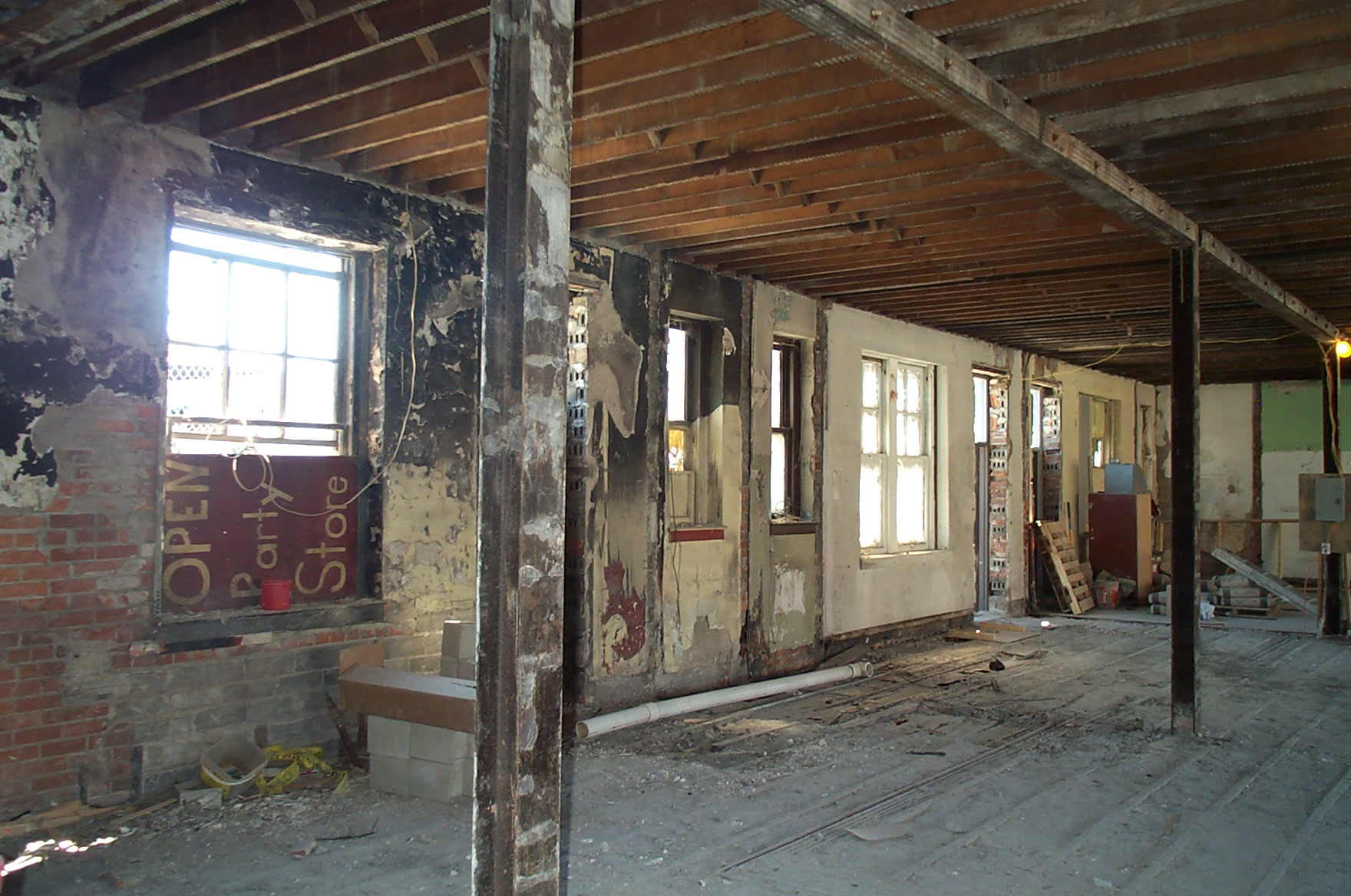 Interior before renovation.