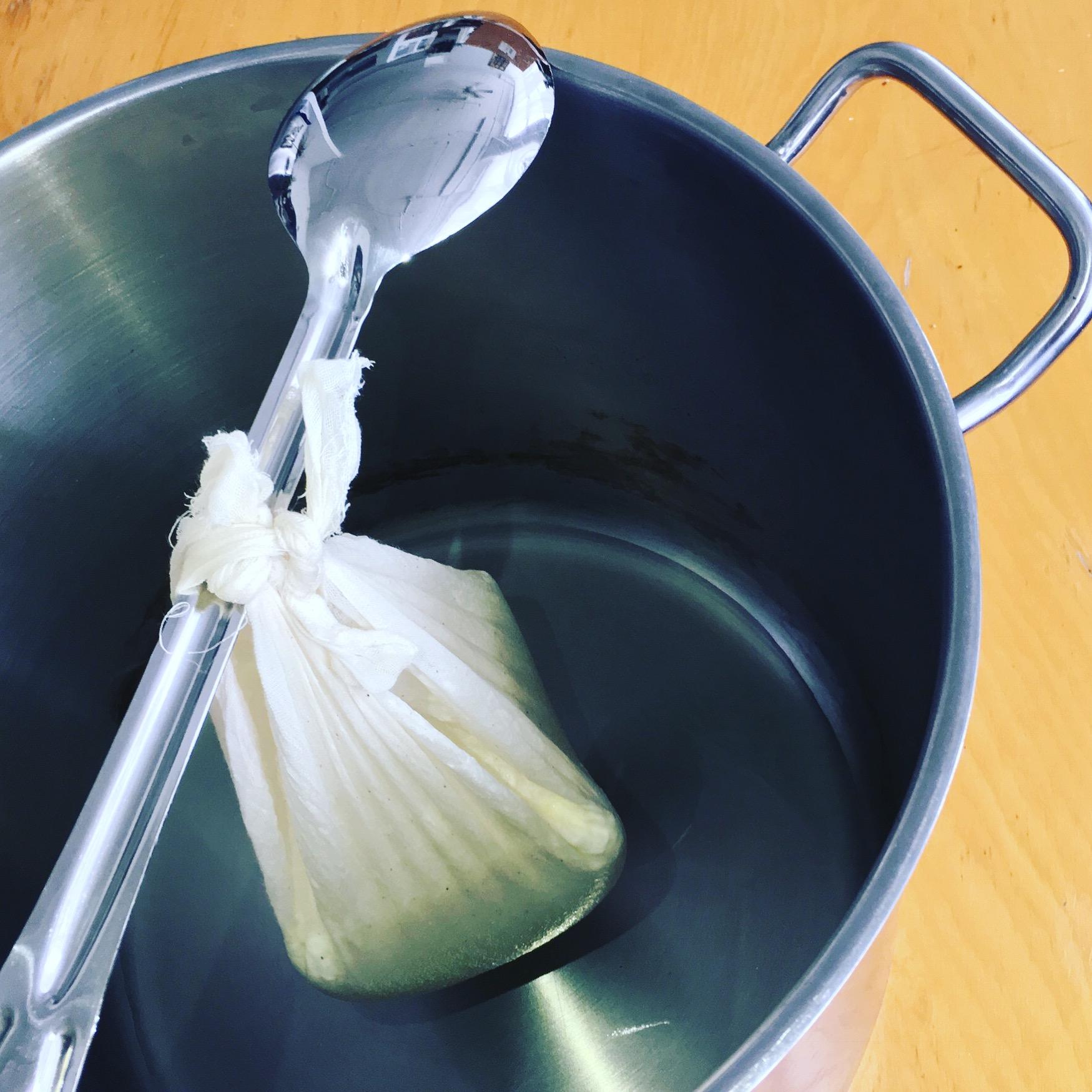 Cream Cheese Draining (step 8)