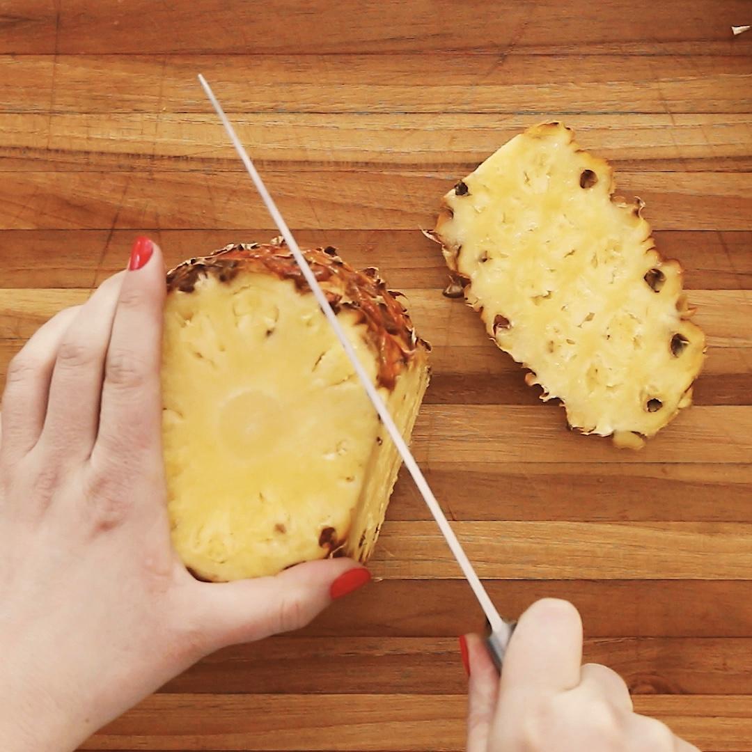 Tepache - Cutting Pineapple