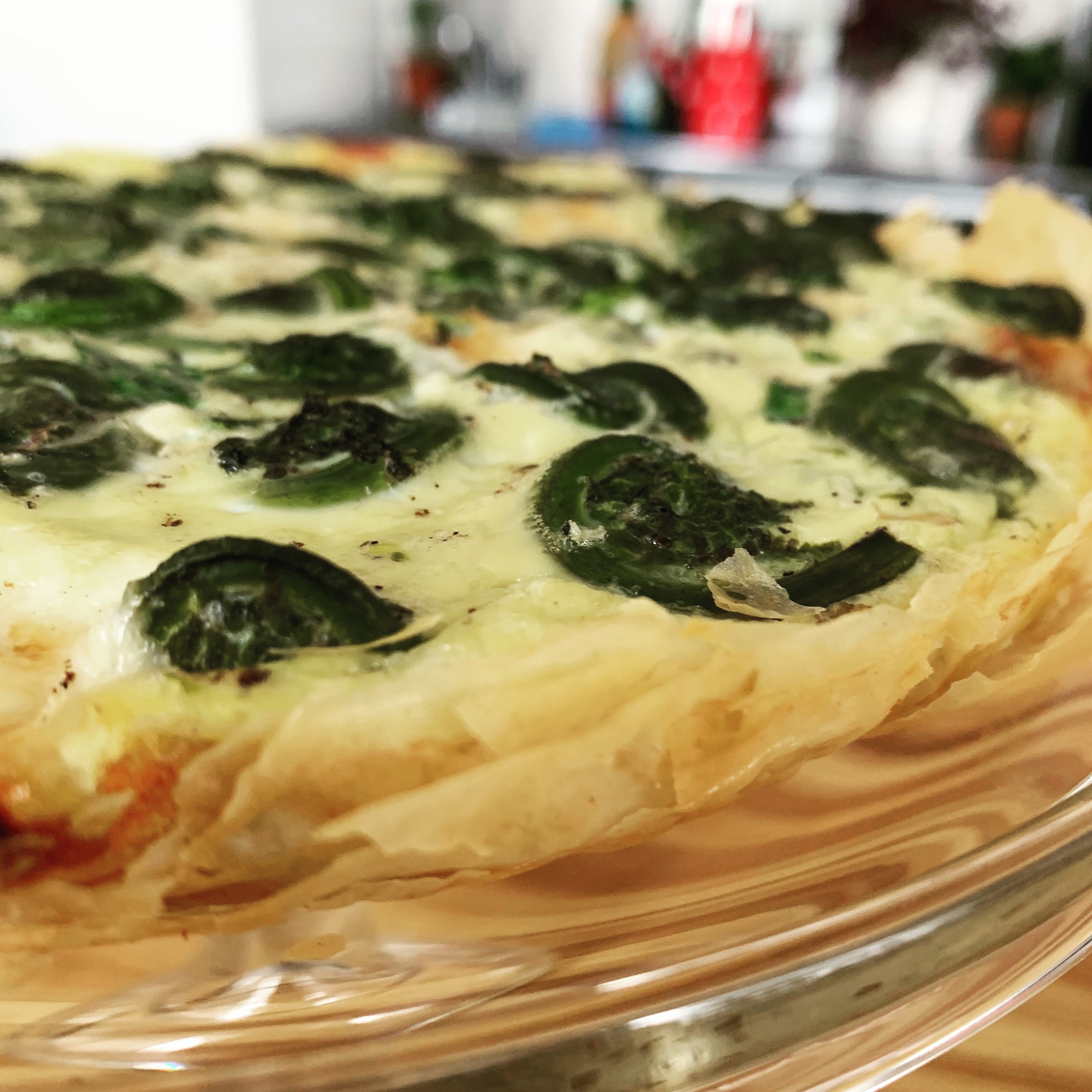 Fiddlehead Fern Tart