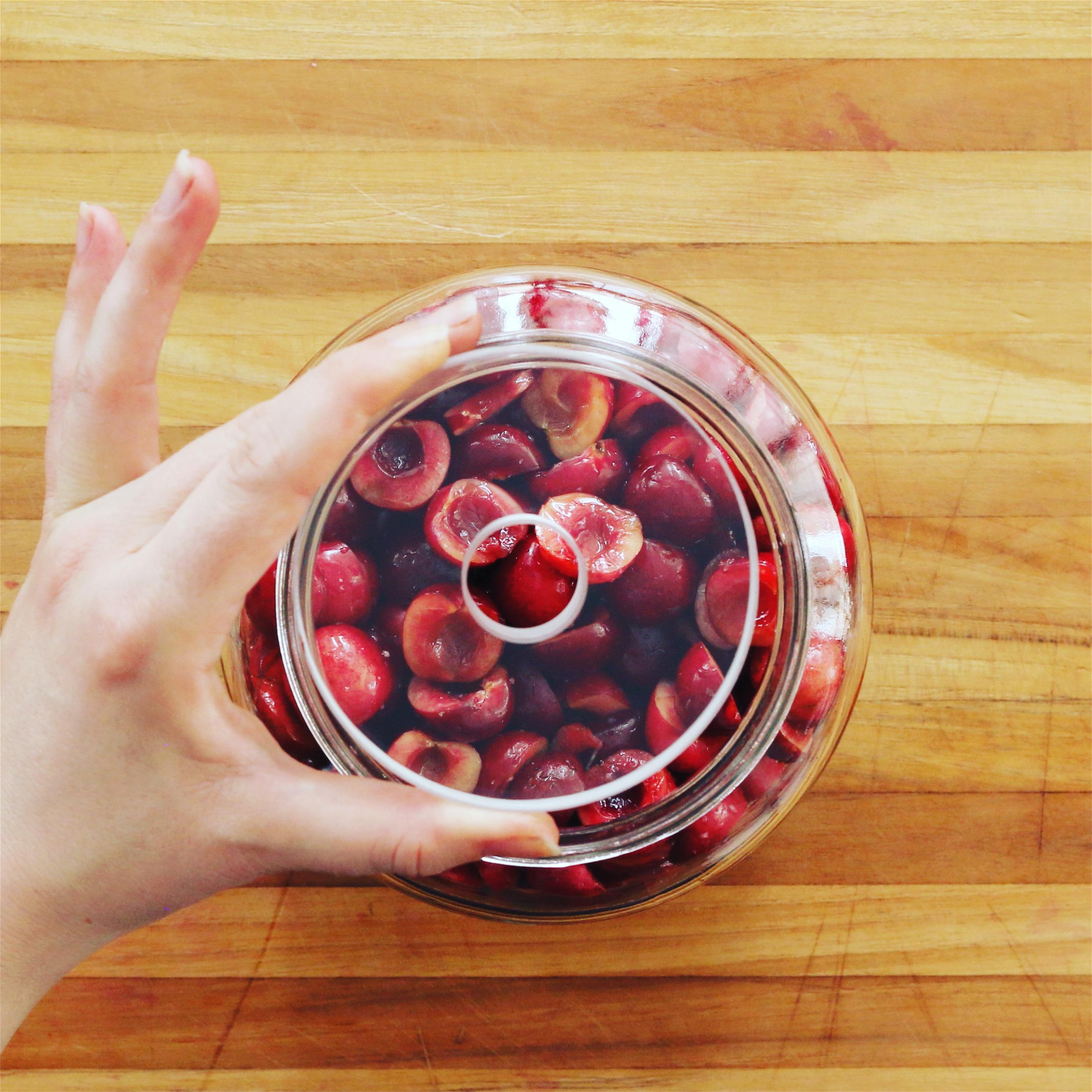 Fermented Cherries - Fermentation Weight