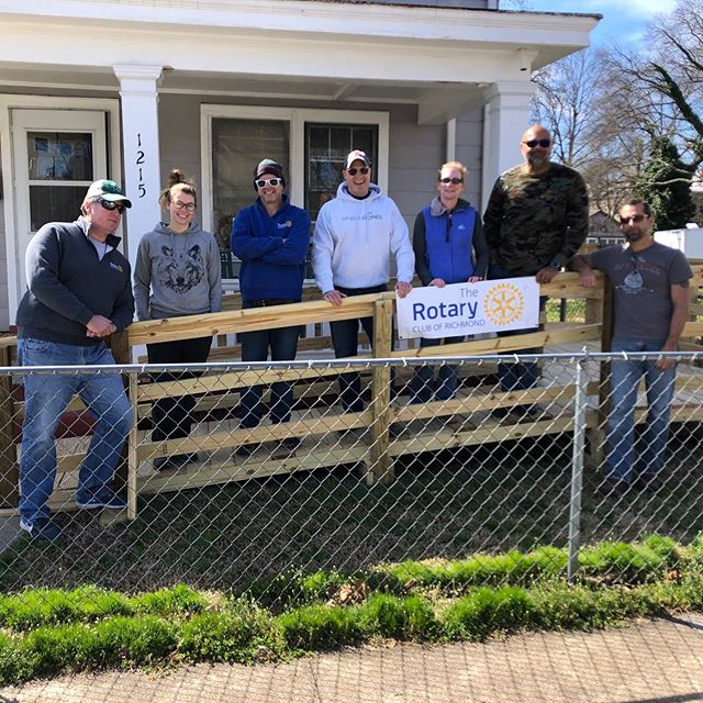 51st ramp built by Rotary Club of Richmond. Thank you Paul Shivley, Mark Ughetta, John Delandro, Will Shroder, Pam Embrey and Erin Kelleher for coming out!