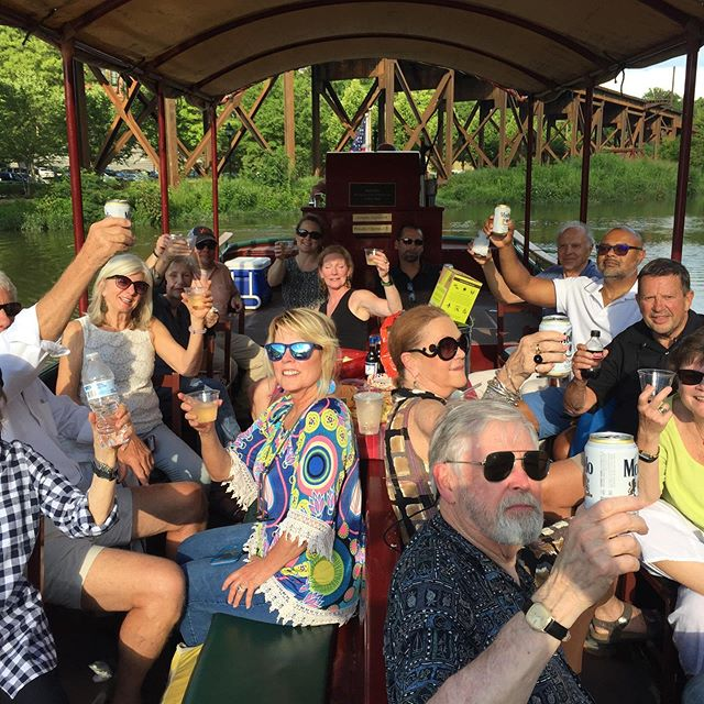 Such a beautiful evening for our River Boat Canal Cruise!