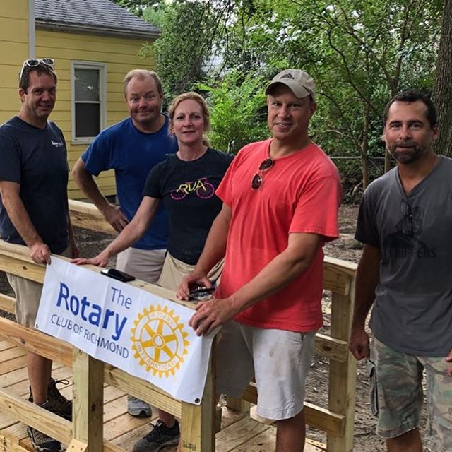 55th ramp project! This group helped an elderly lady by providing a ramp for her wheelchair.