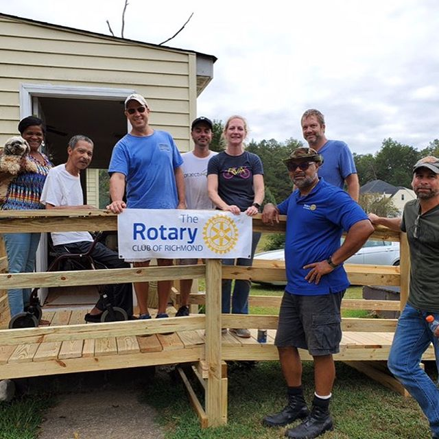 The Rotary Club of Richmond completes ramp #56!
