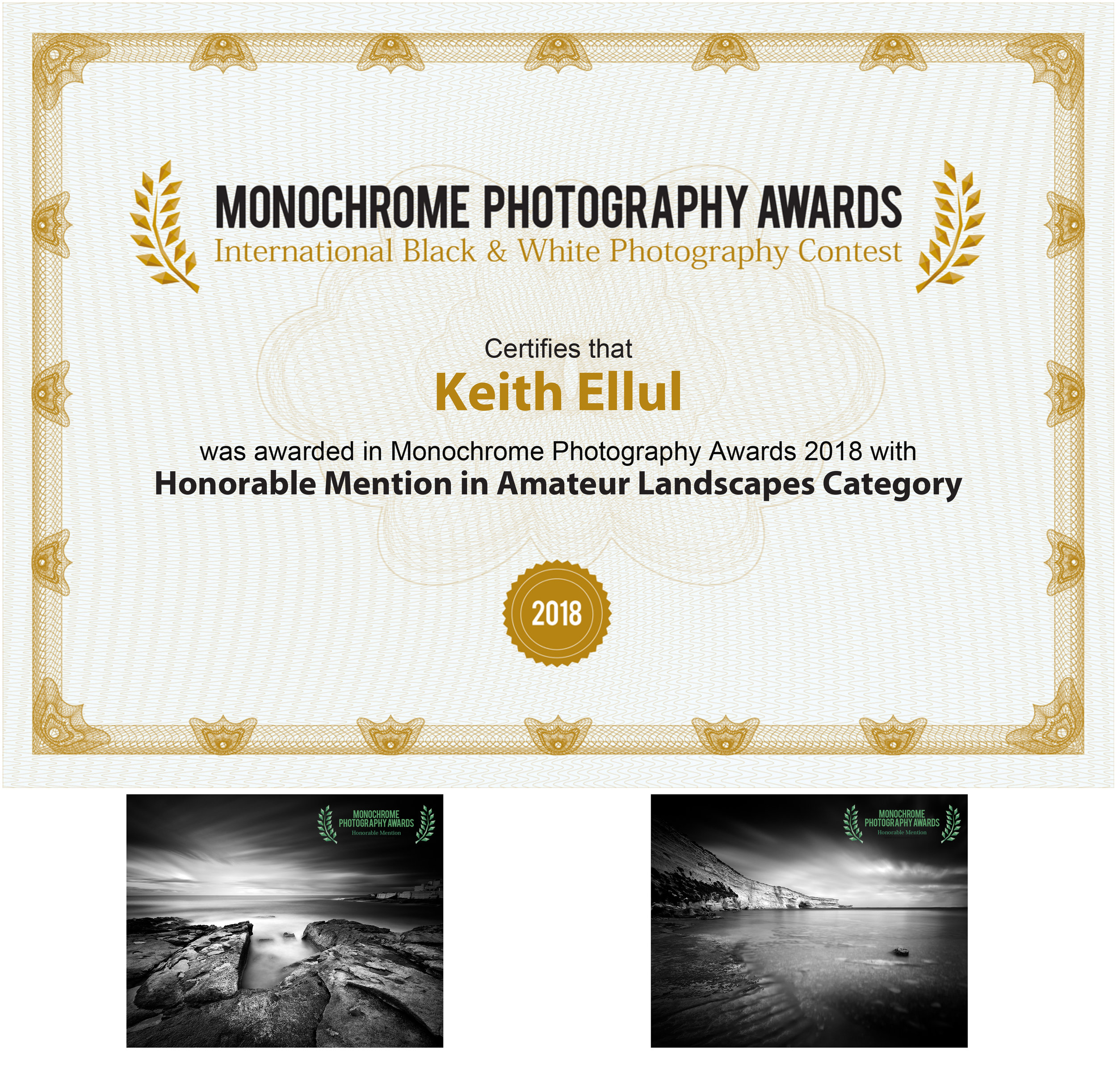 Monochrome Photography Awards 2018 - Honorable Mention - Landscape Category