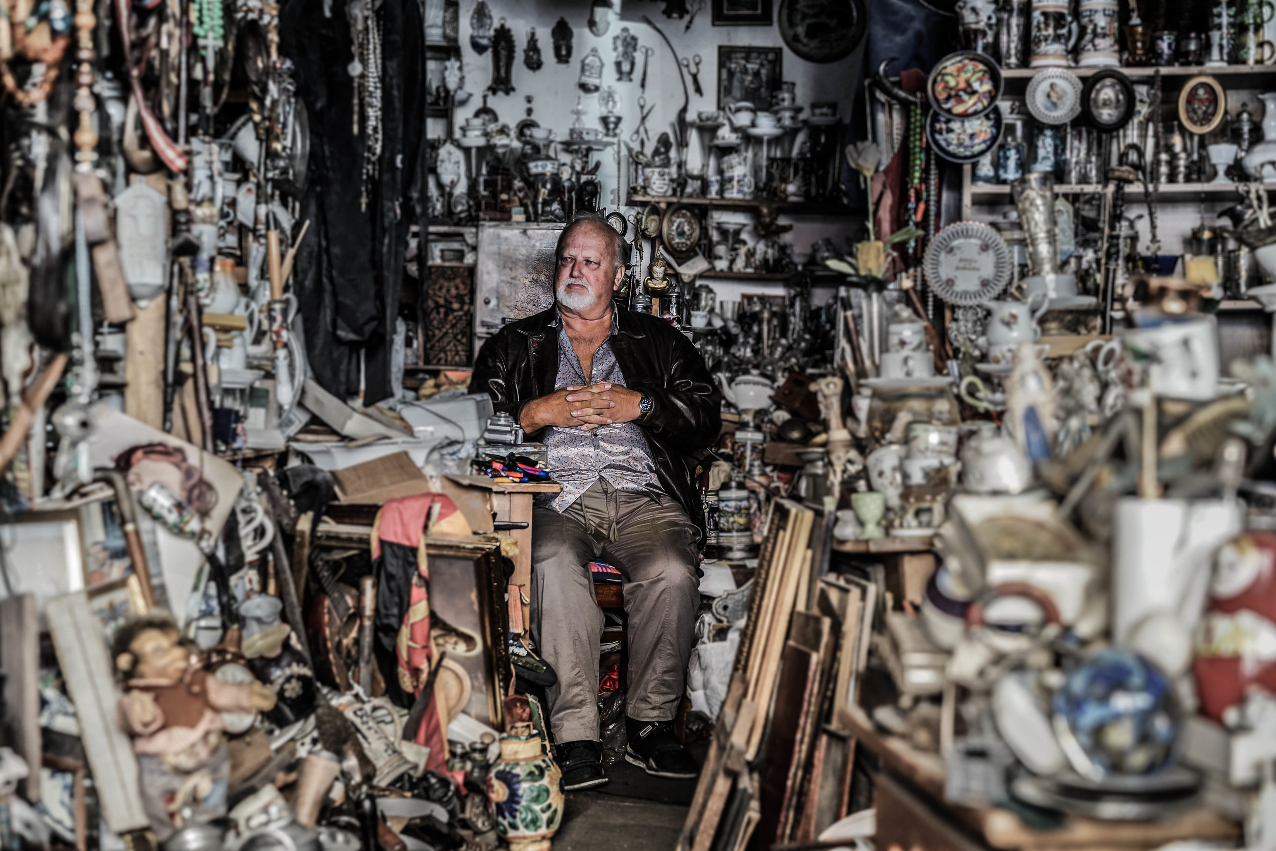 A Man in the Antiquities Store