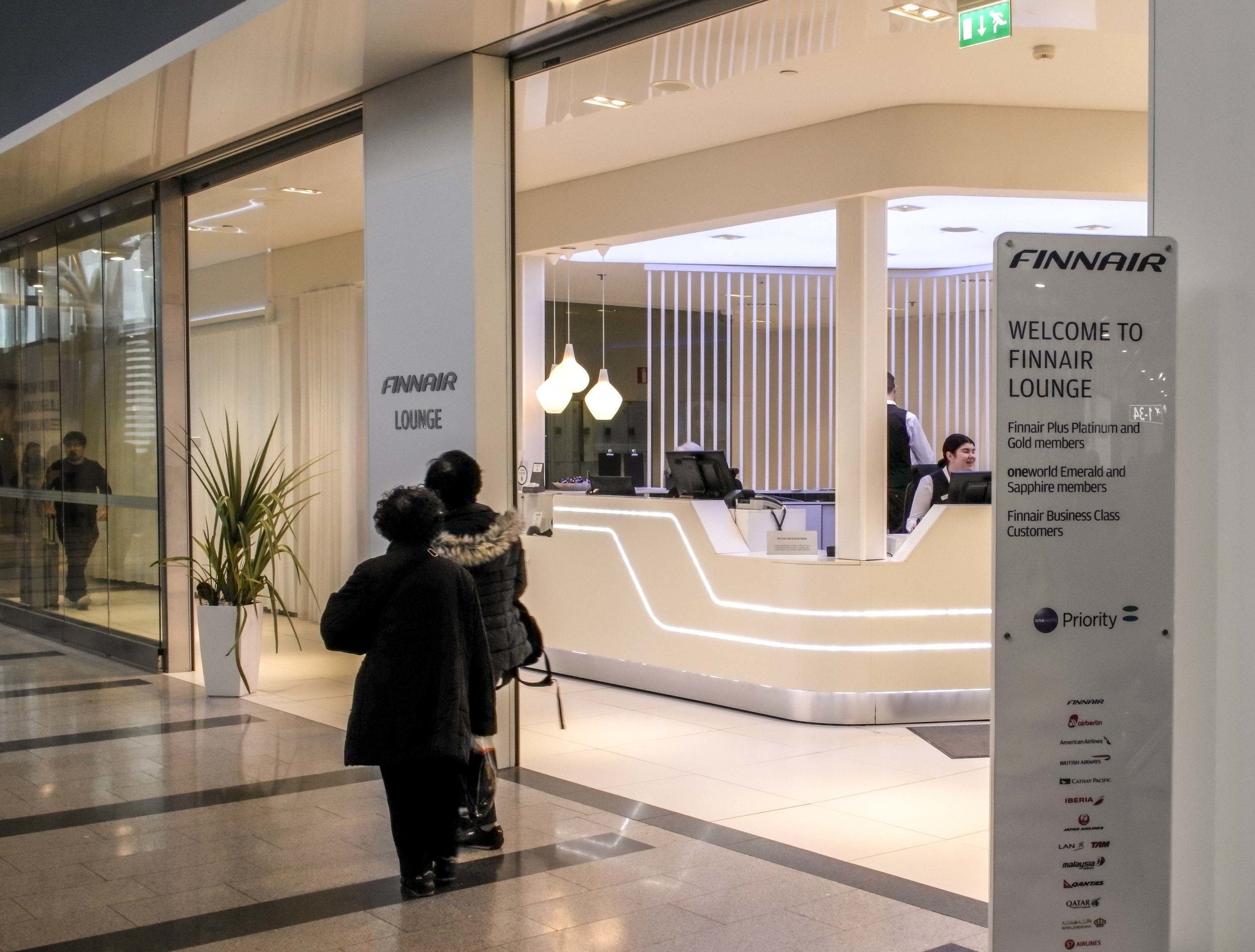 Finnair lounge entrance