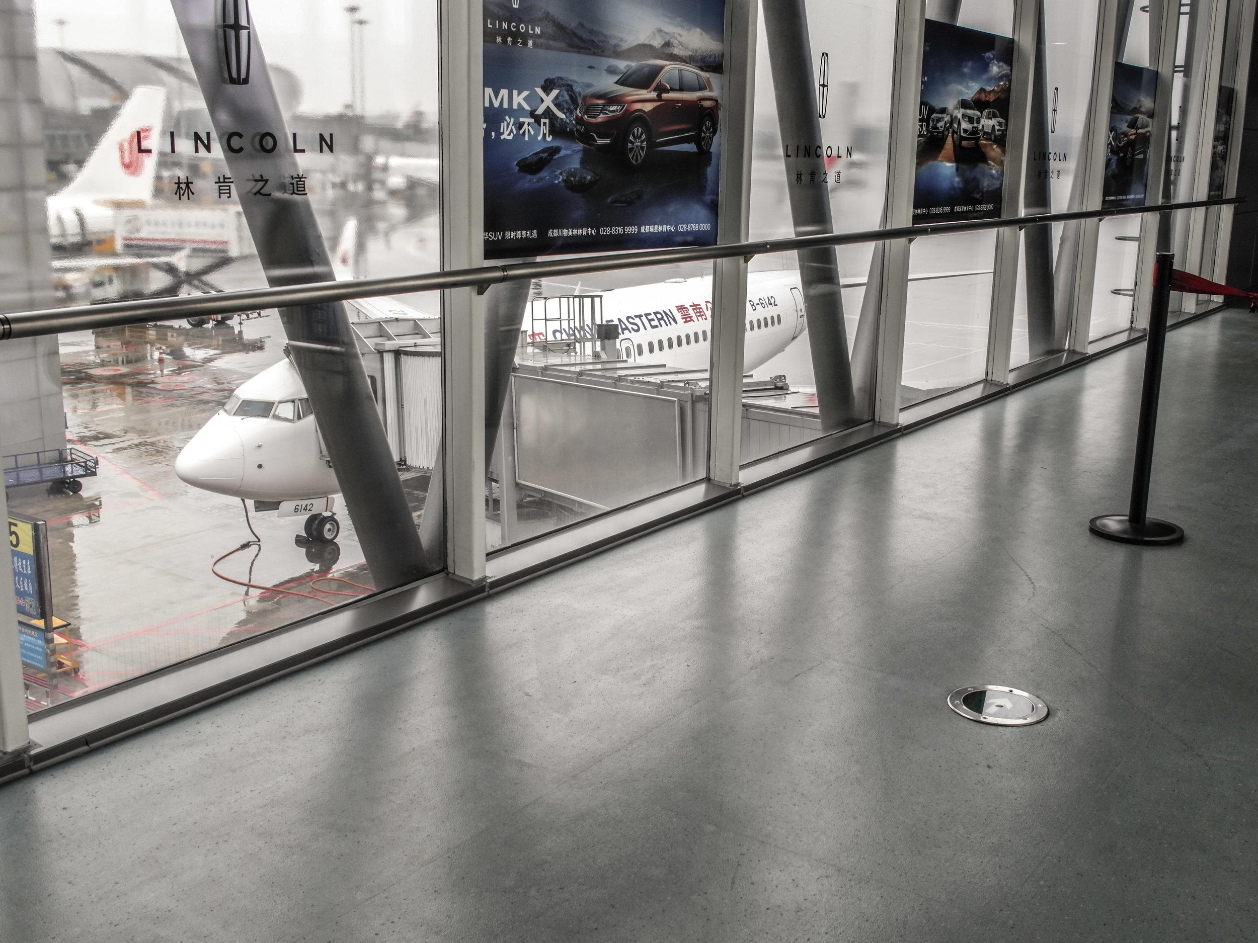 Chengdu airport jet bridge