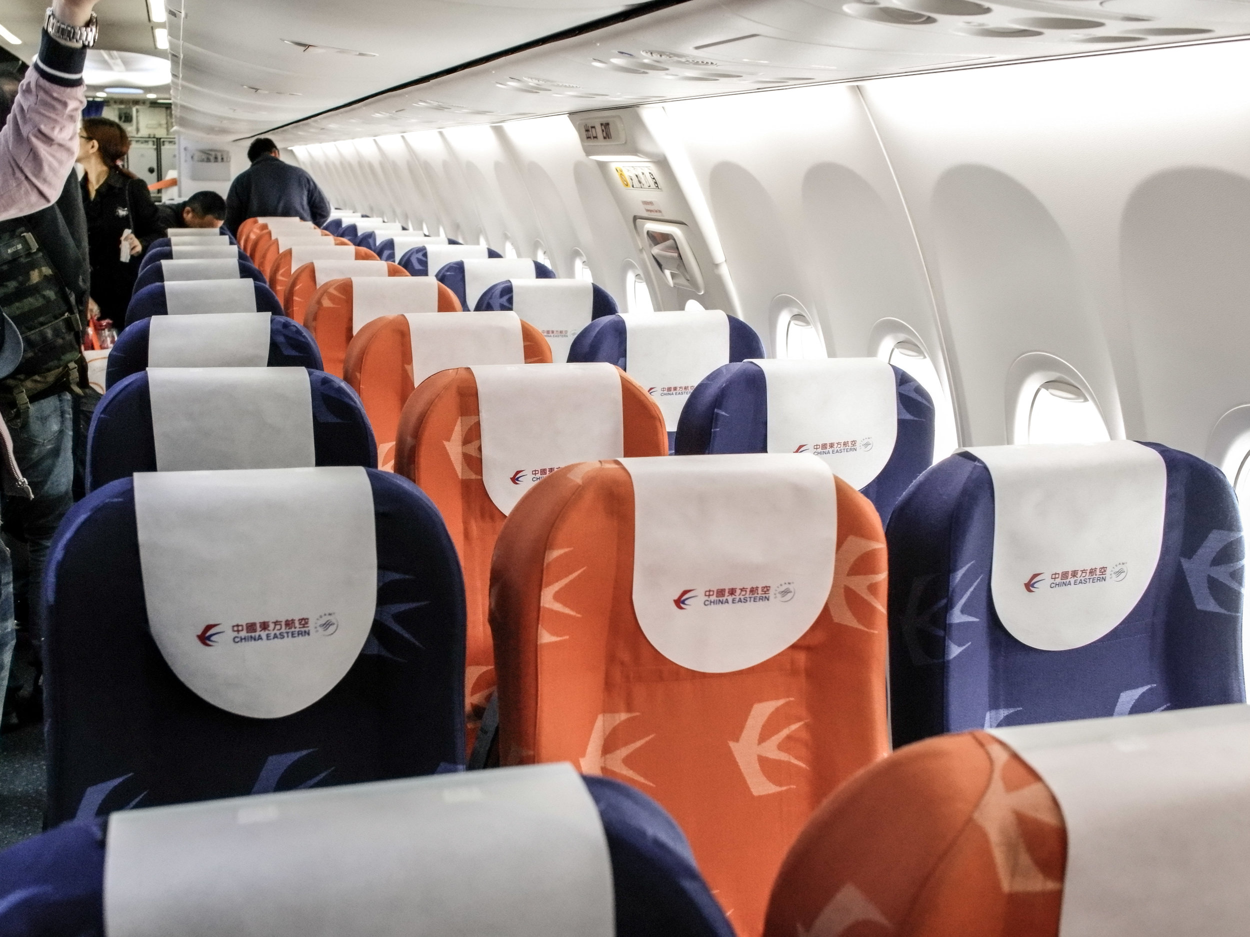 China Eastern Boeing 737 - economy class