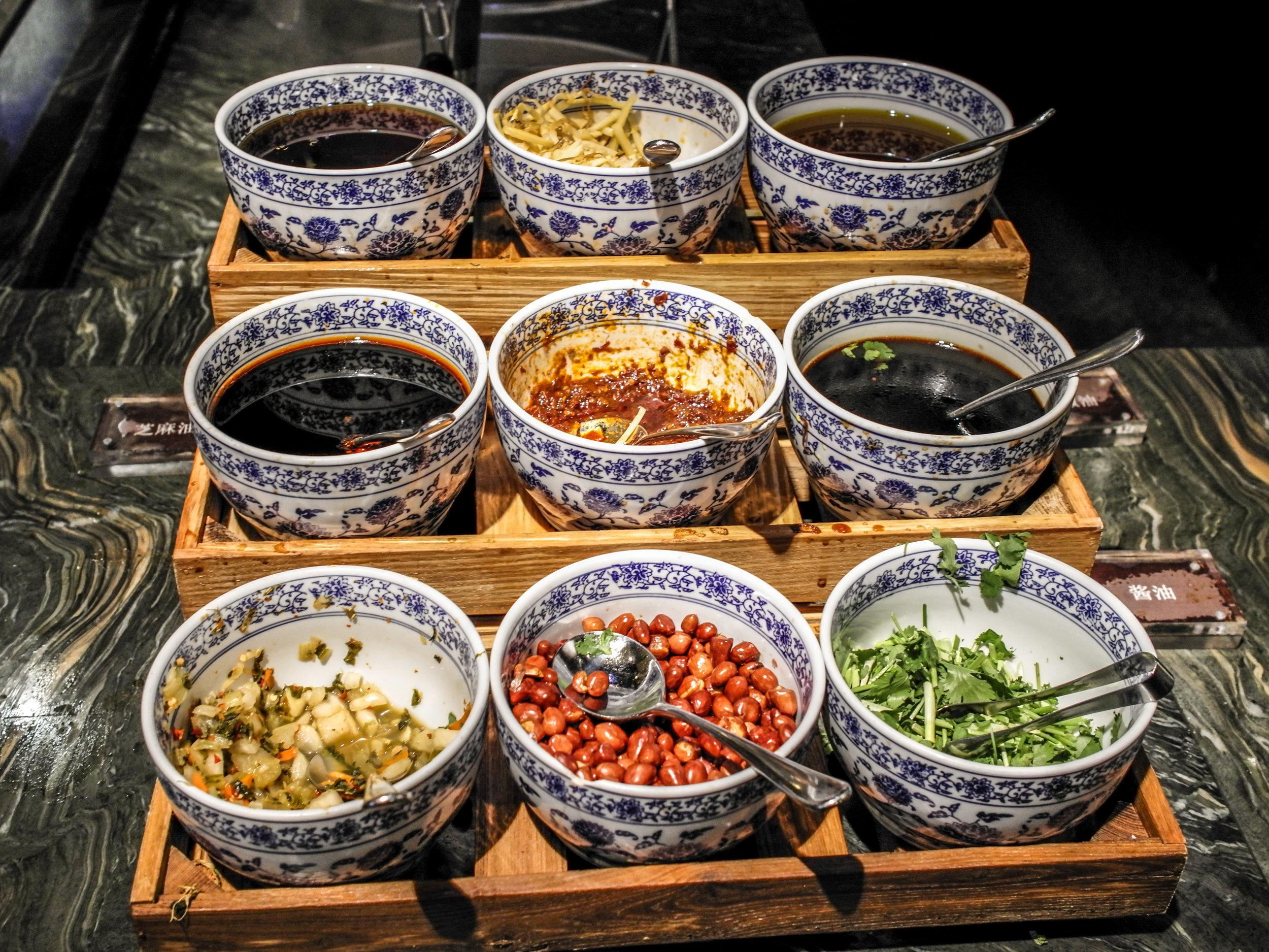 Ani's Kitchen - noodle soup condiments