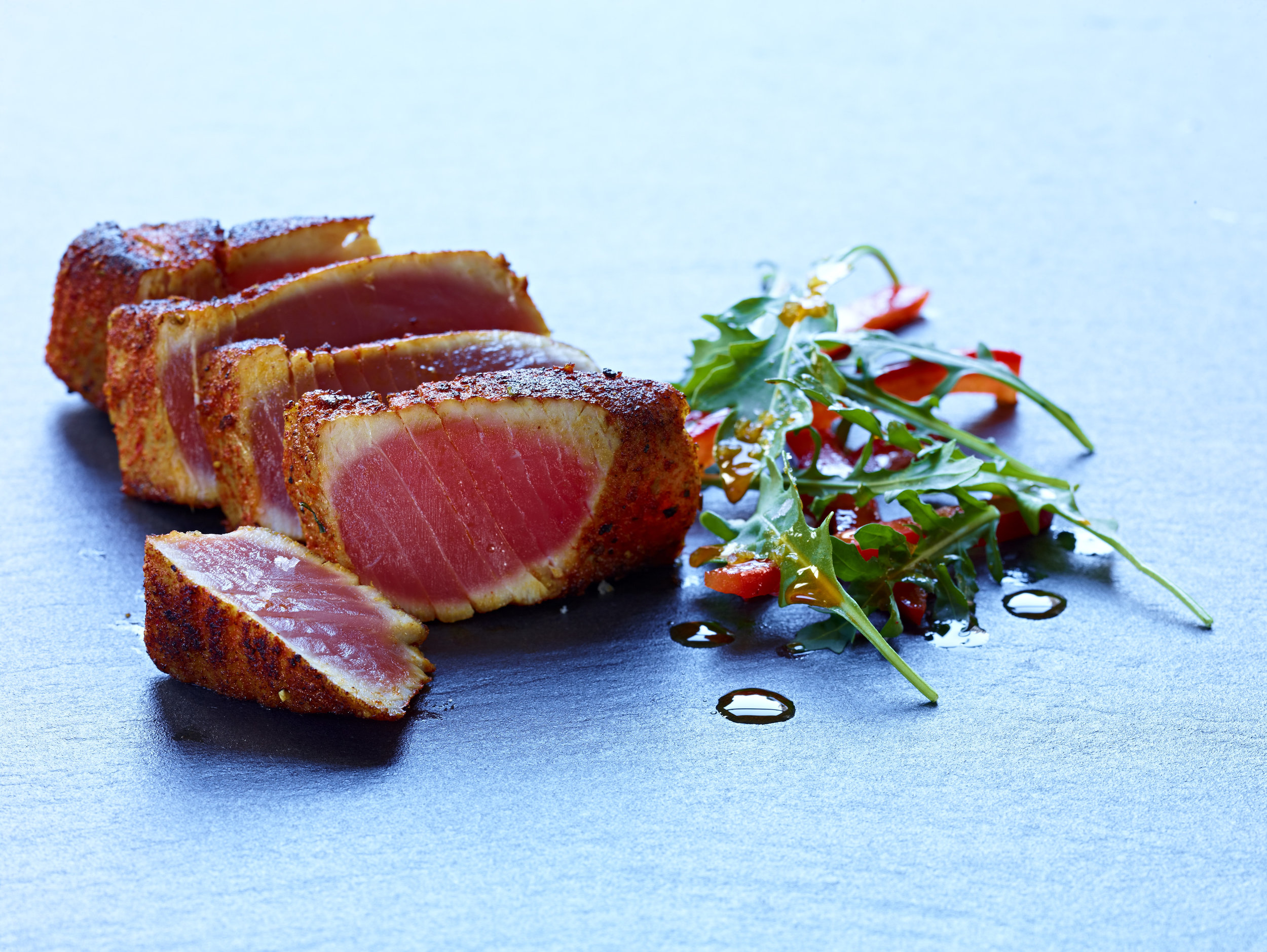 Seared Tuna with Arugula and Bell Pepper Salas w: Salvador N.19.jpg