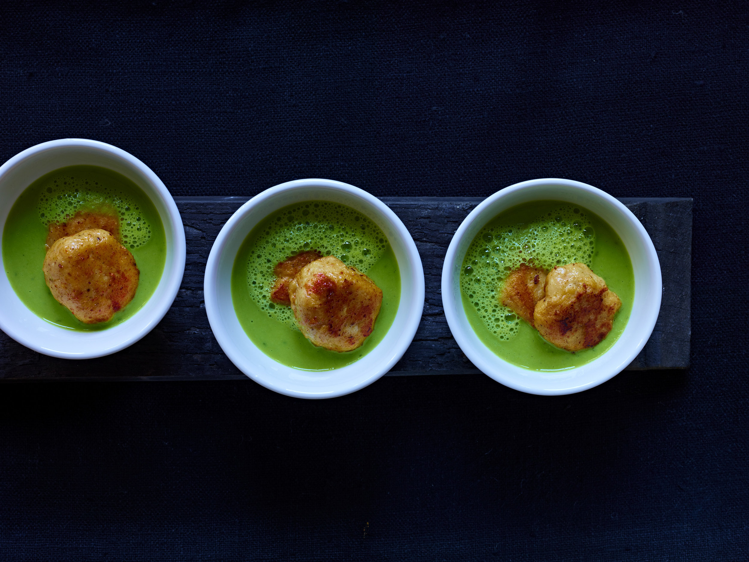 Ricotta Gnudi with Spring pea Soup w: Penang N.32.jpg