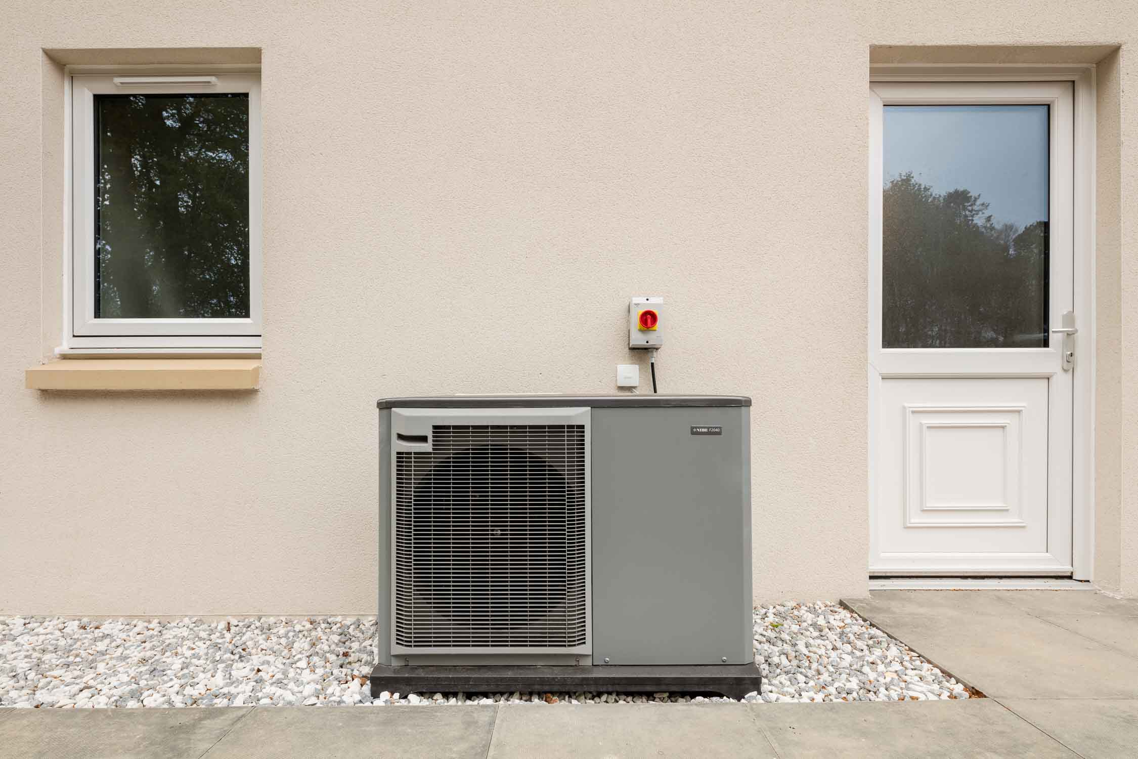 Nibe 2040 air source heat pump system