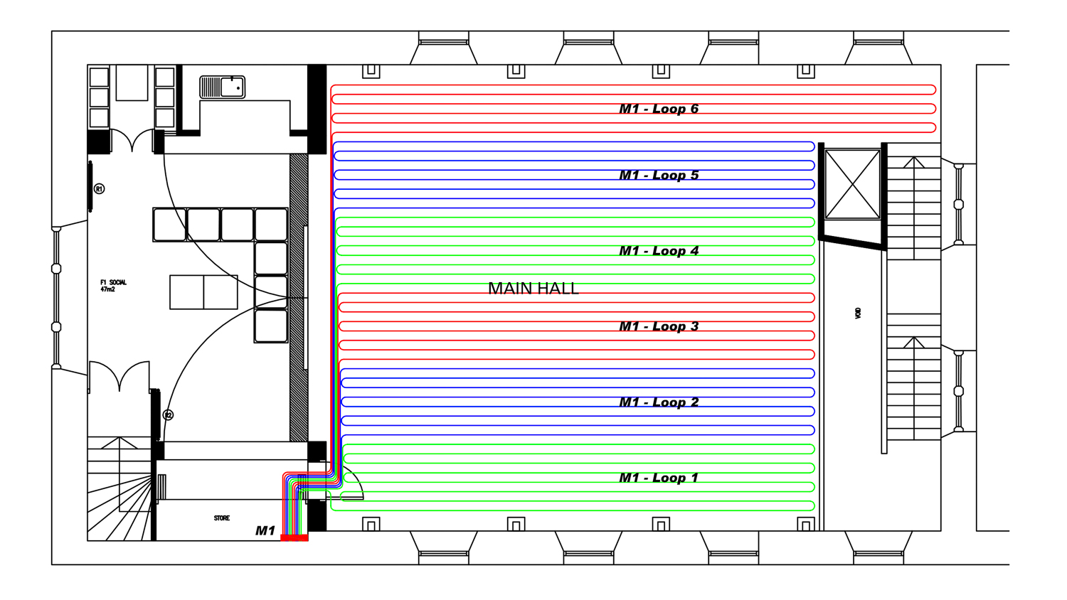 Do you deal with the design element of underfloor heating as well? - Yes,we offer CAD design service including pipework layouts, heat output calculations and in some instances heat loss calculations. All design work is carried out to relevant standards (in particular BS EN1264) and following CIBSE guidelines.