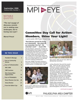 Meeting Professionals International, Philadelphia Chapter  MPI to EYE   Welcome to MPI      September 2006