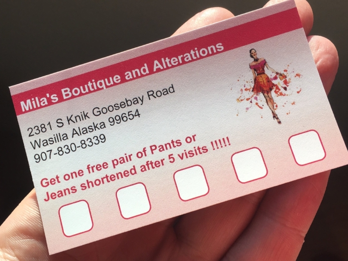 Check out the loyalty card!