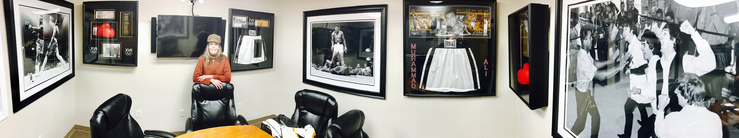 Beth Fread is an associate broker for Mark Lee, who clearly loves Muhammad Ali.