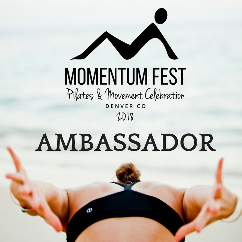 We're so excited to be an ambassador for  Momentum Fest 2018 ! Momentum Fest is a three day Pilates and movement inspired event taking place June 24-26, 2018 in Broomfield, CO. Check out their website for more information and tickets!