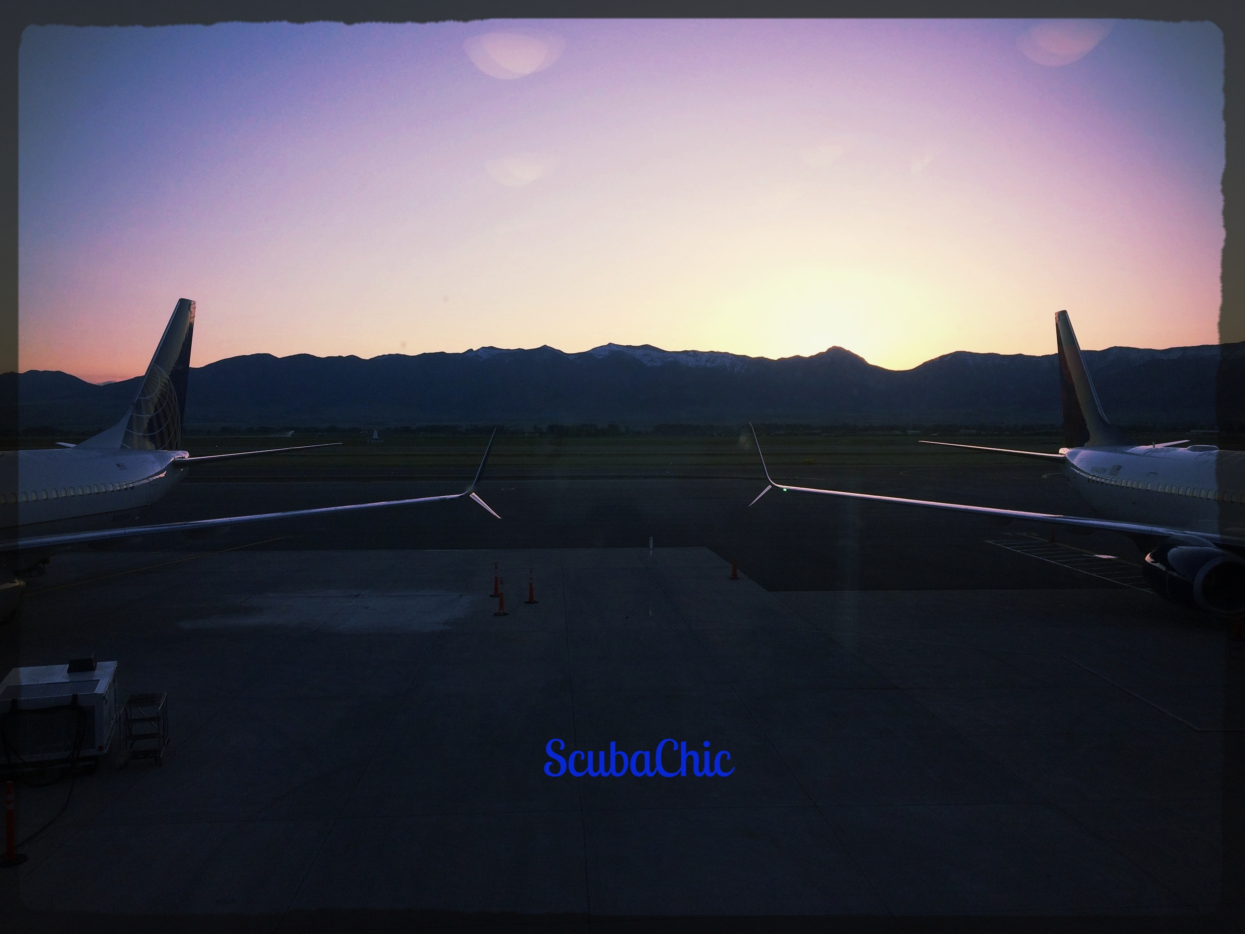 Bozeman airport sunrise