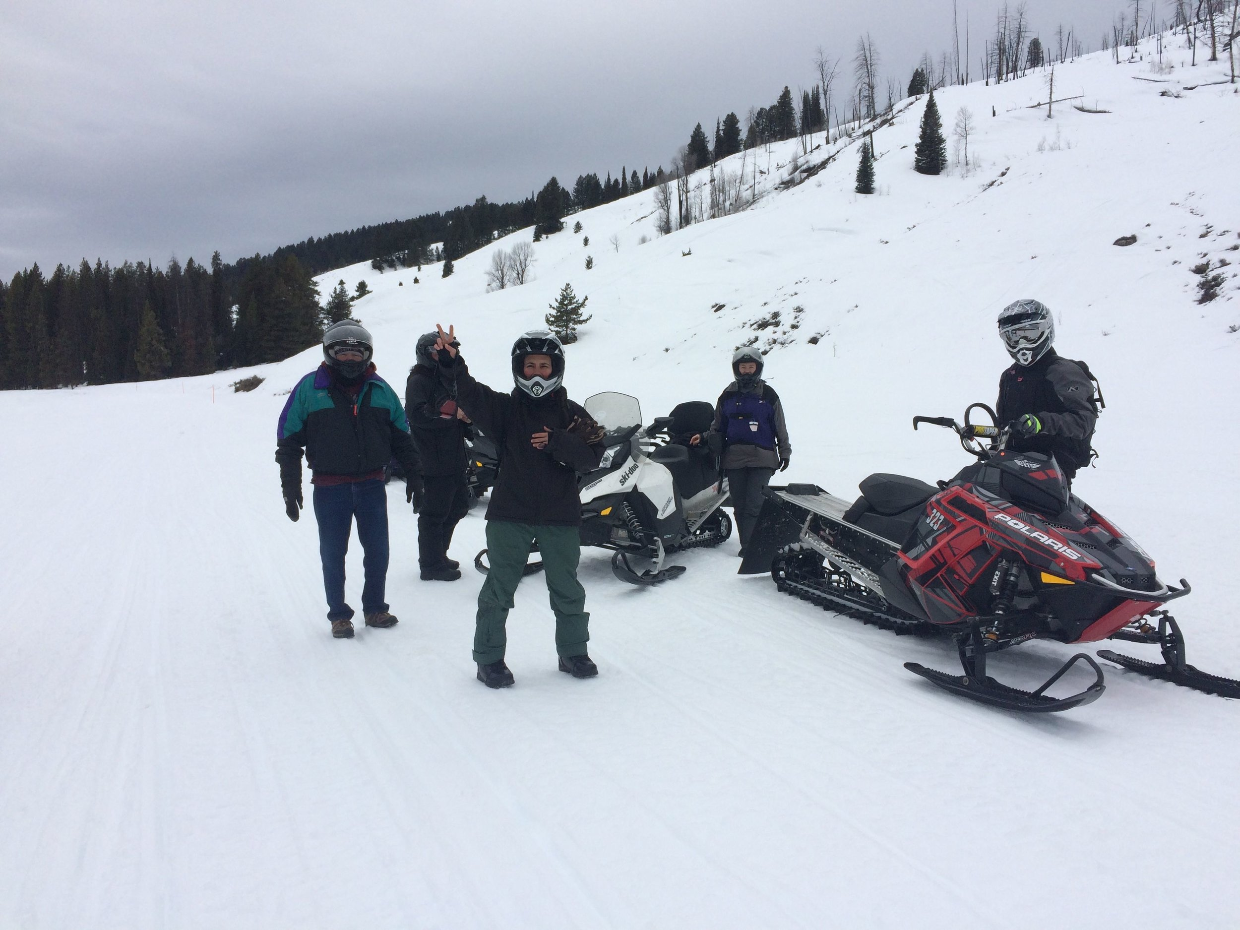 snowmobiling to granite hot springs