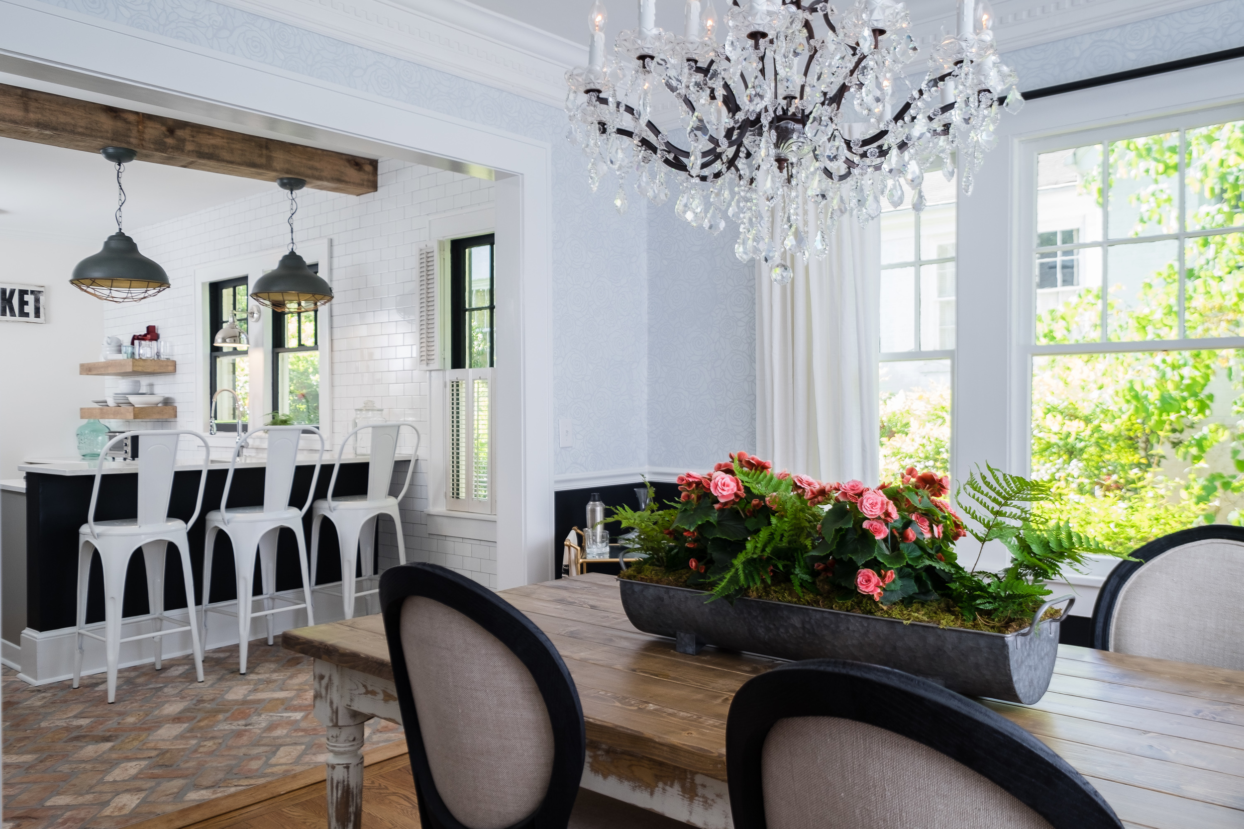 Downtown Greenville Bungalow Dining Room