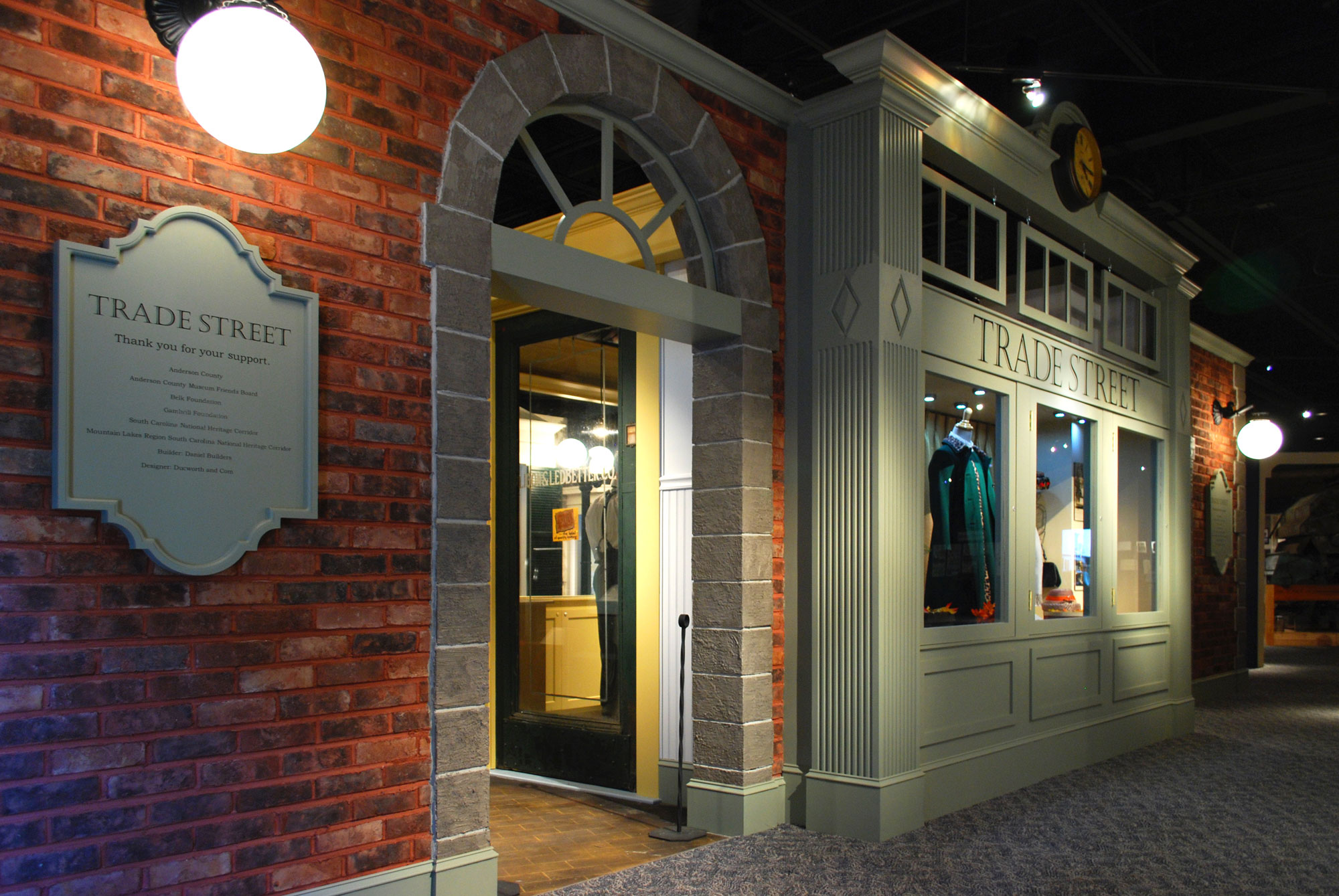 Exterior of Trade Street Exhibit - Anderson County Museum
