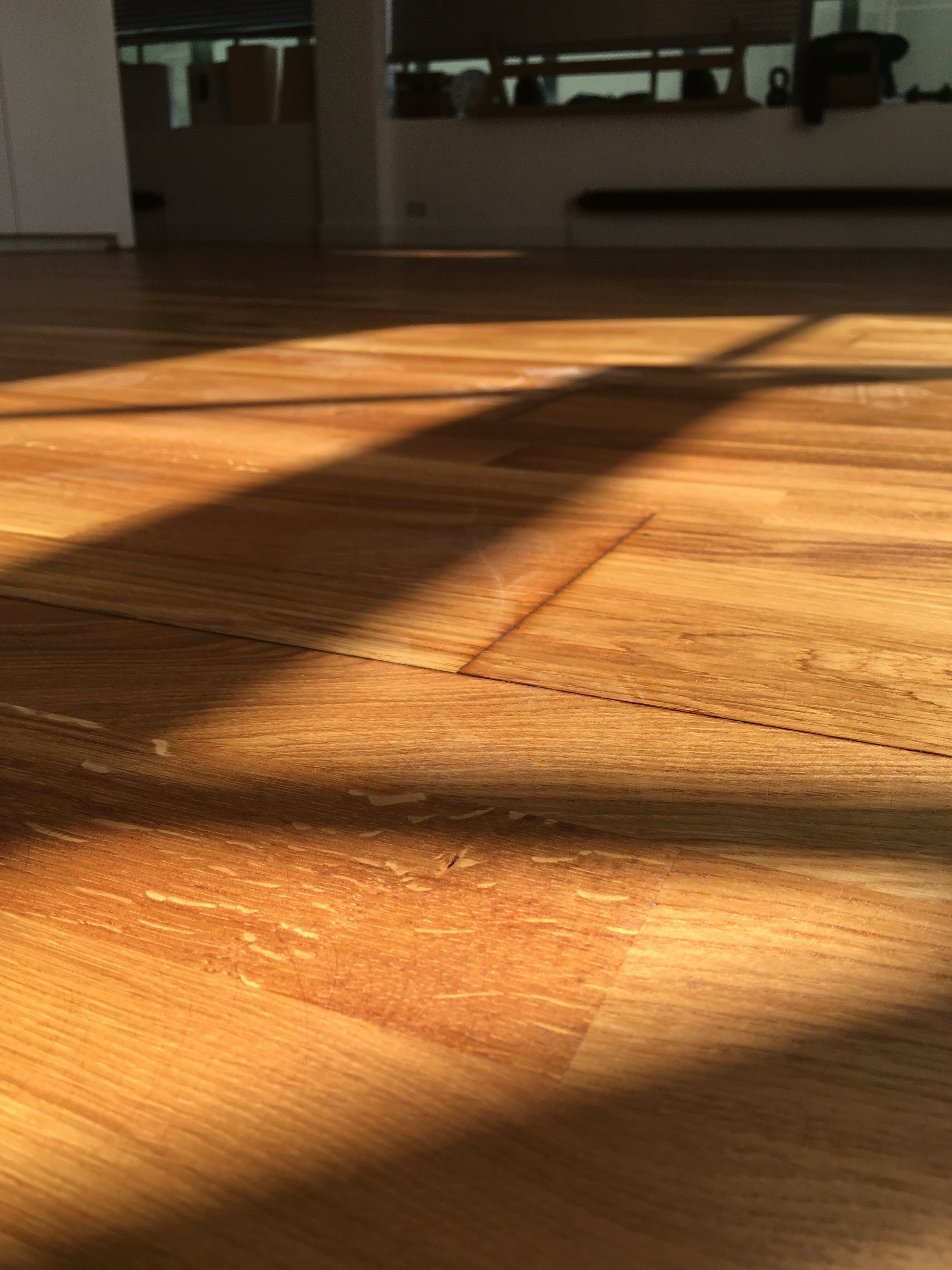 Oak block parquet floor