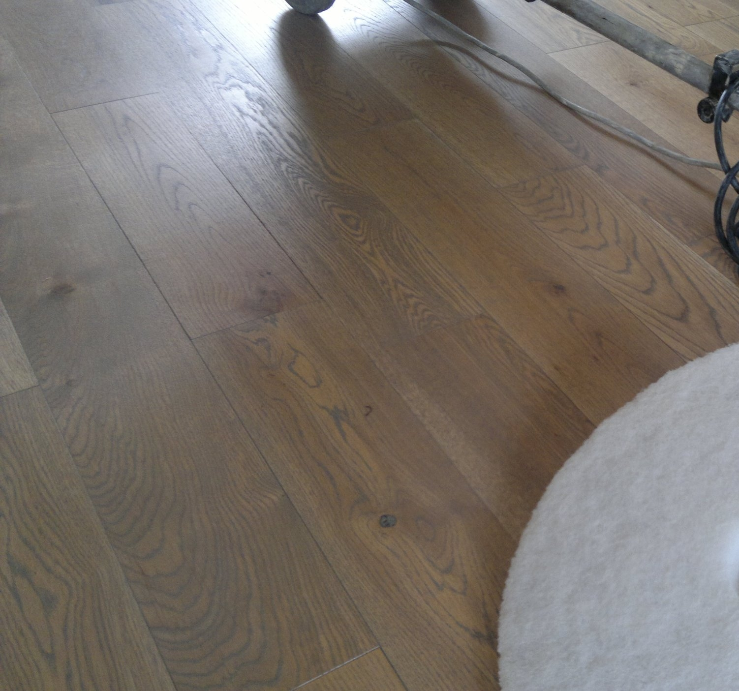 oak floor treated with tinted hardwax oil