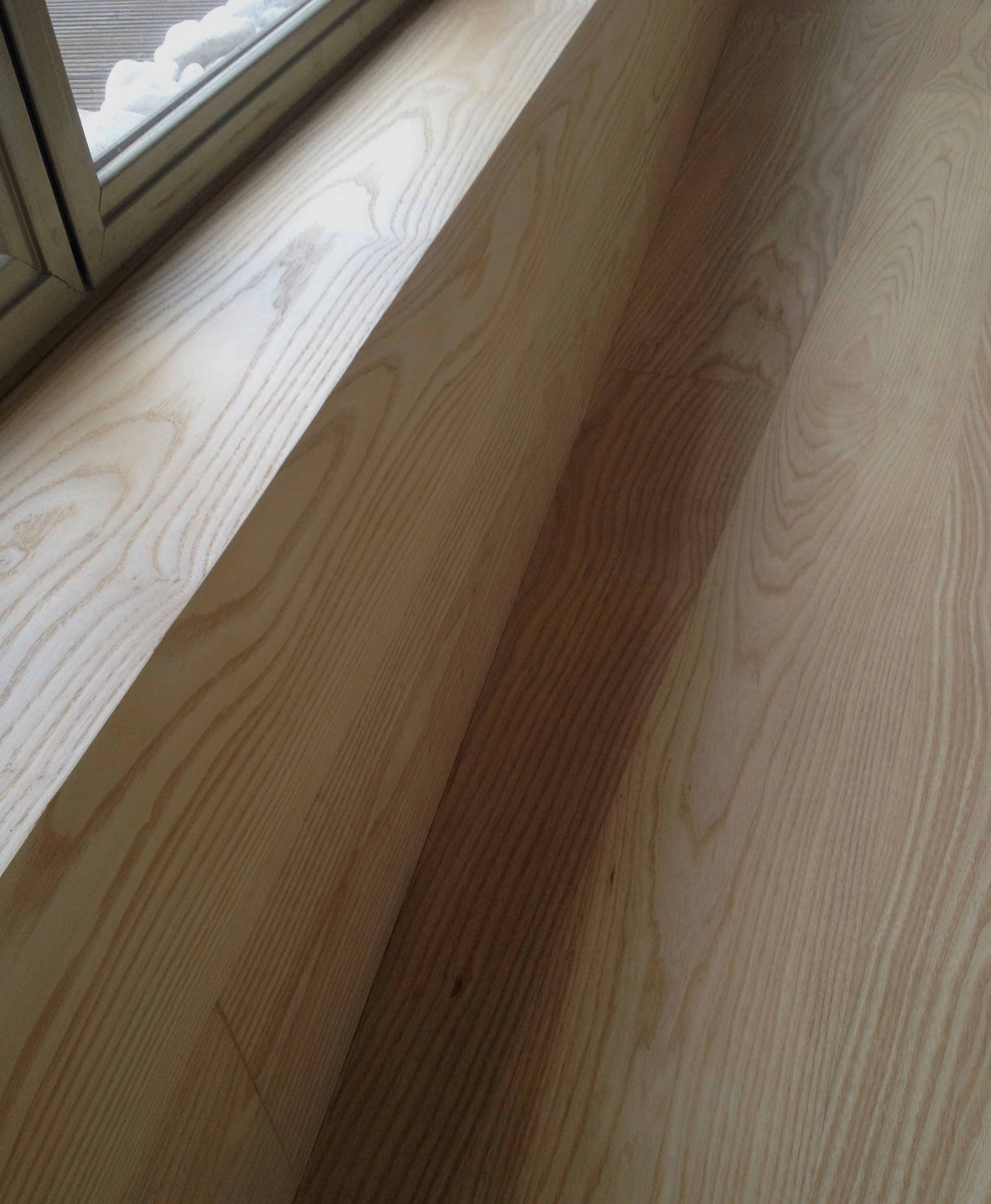 Ash floor treated with extreme matt finish