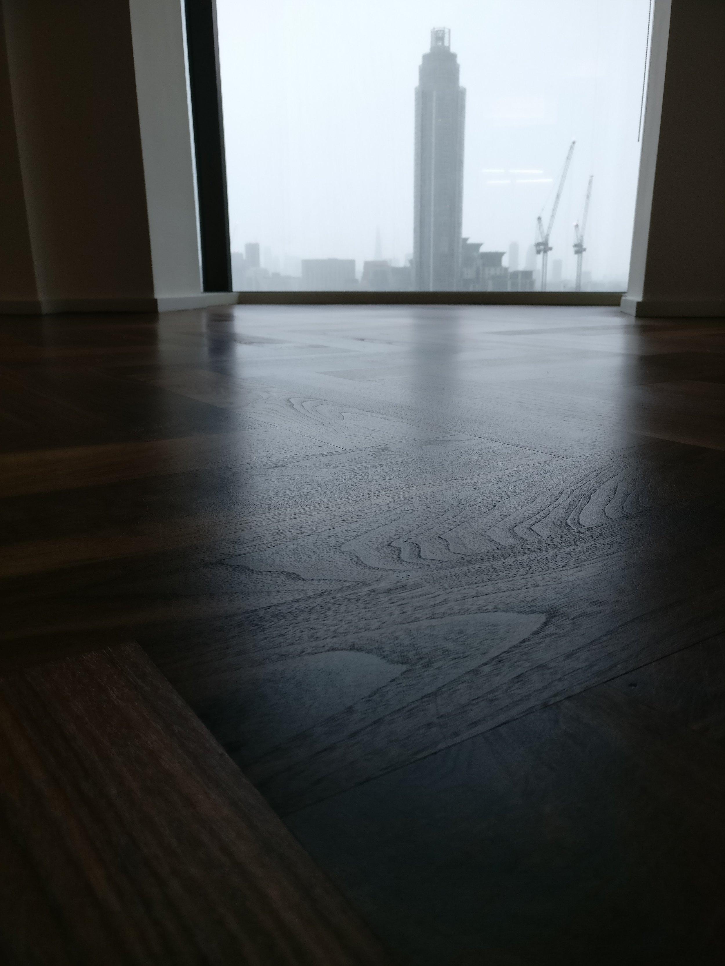 walnut parquet floor sanding
