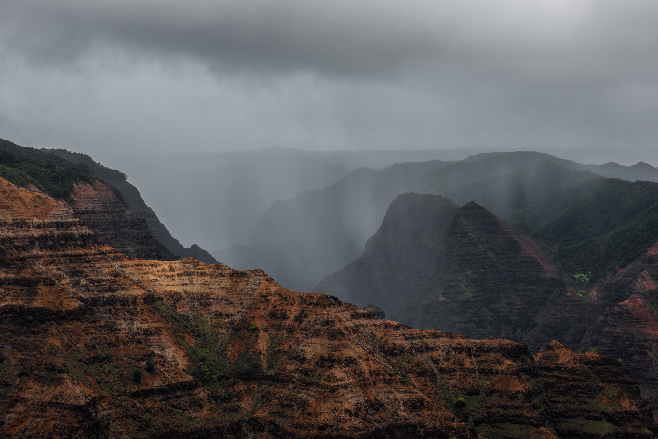 Waimea canyon last Saturday in the storm.