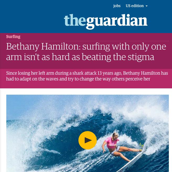 Bethany Hamilton- Interview & story