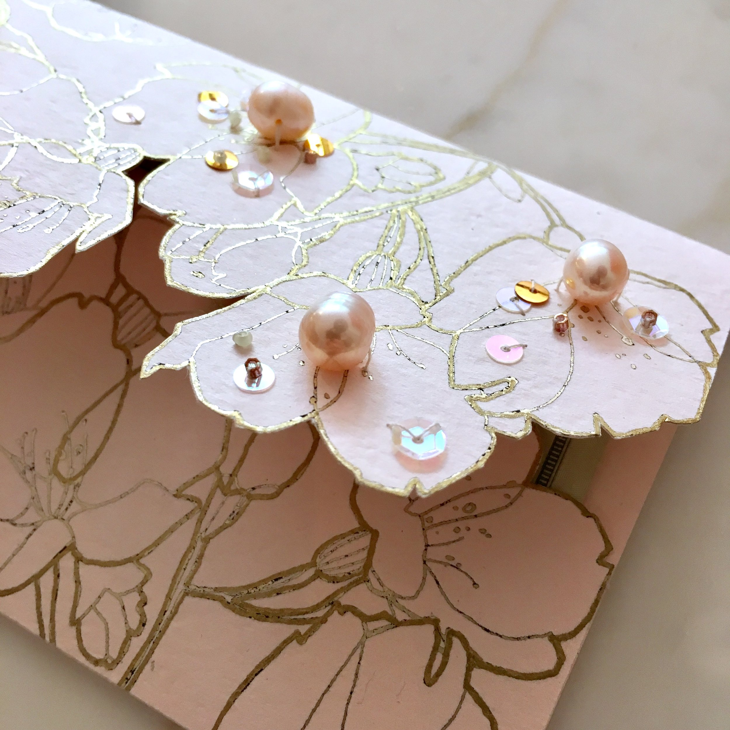 Chinese Wedding Envelopes with Pearls