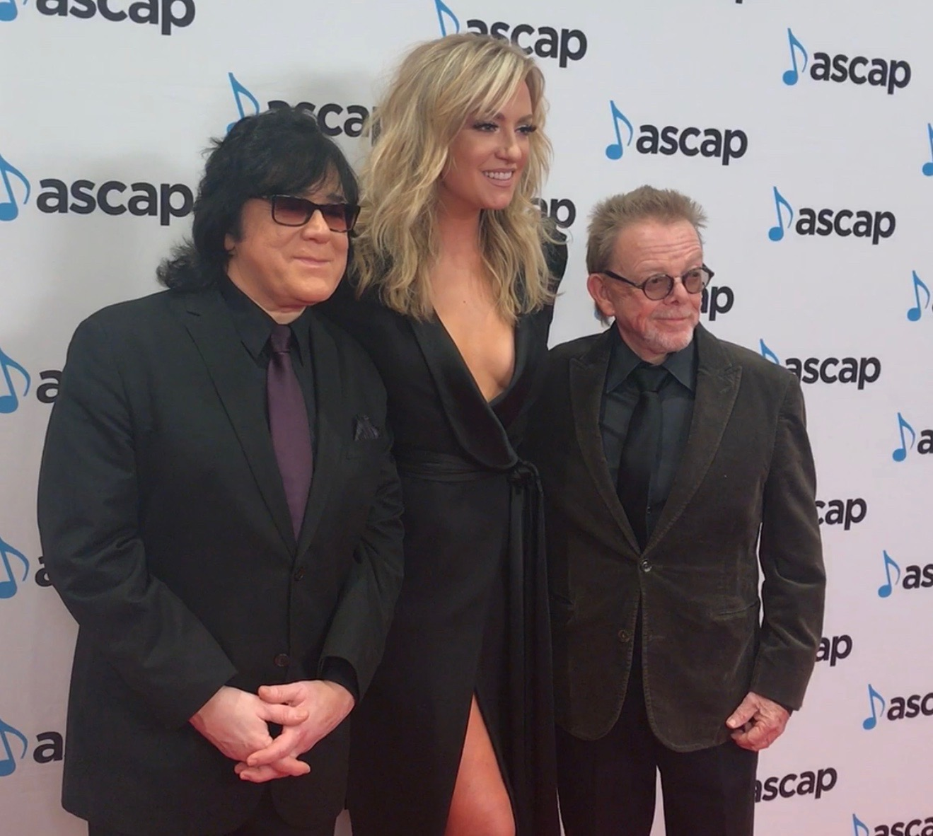 Clare Dunn with ASCAP's John Titta (L) and Paul Williams (R)
