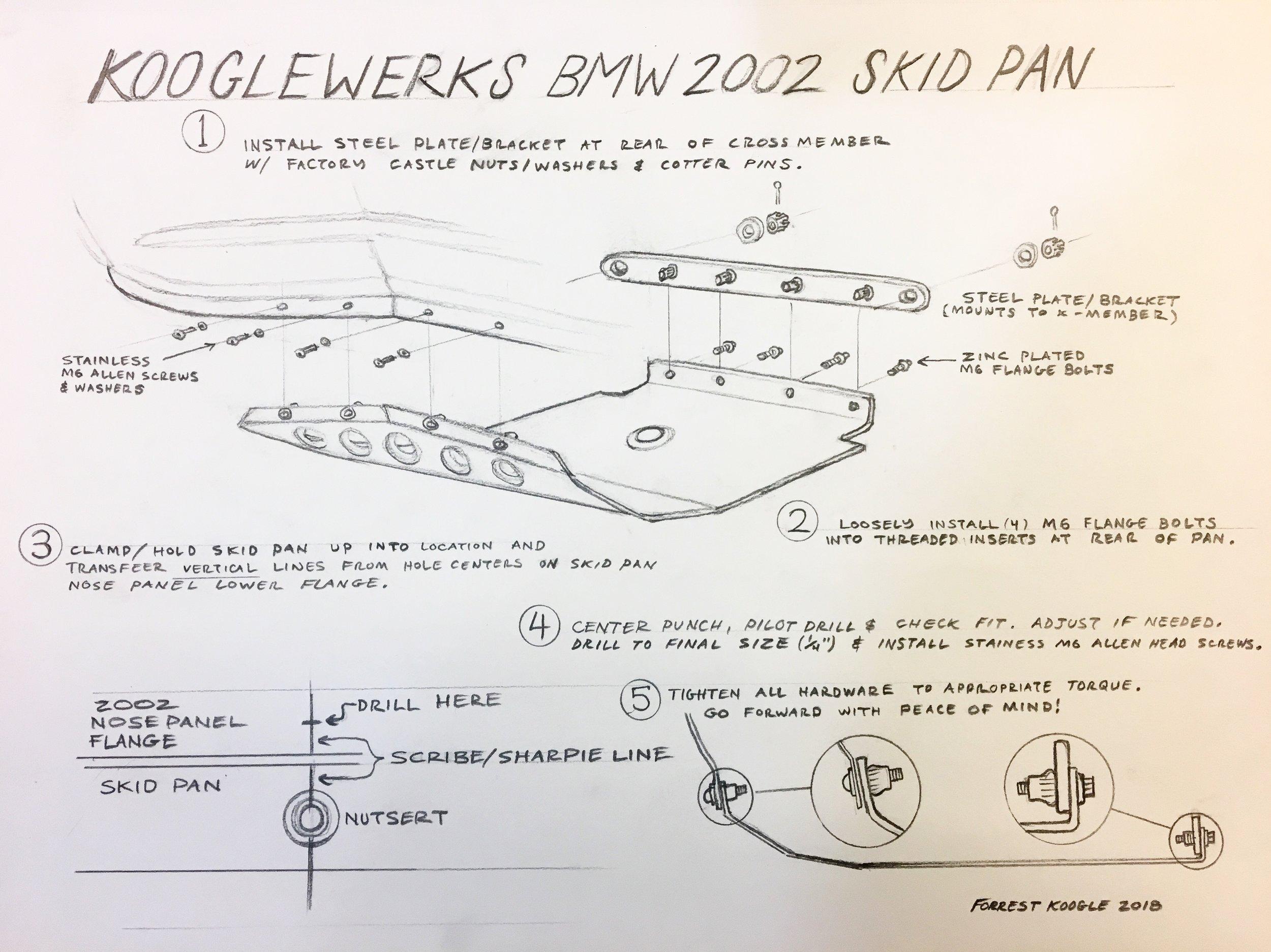 bmw 2002 skid pan installation