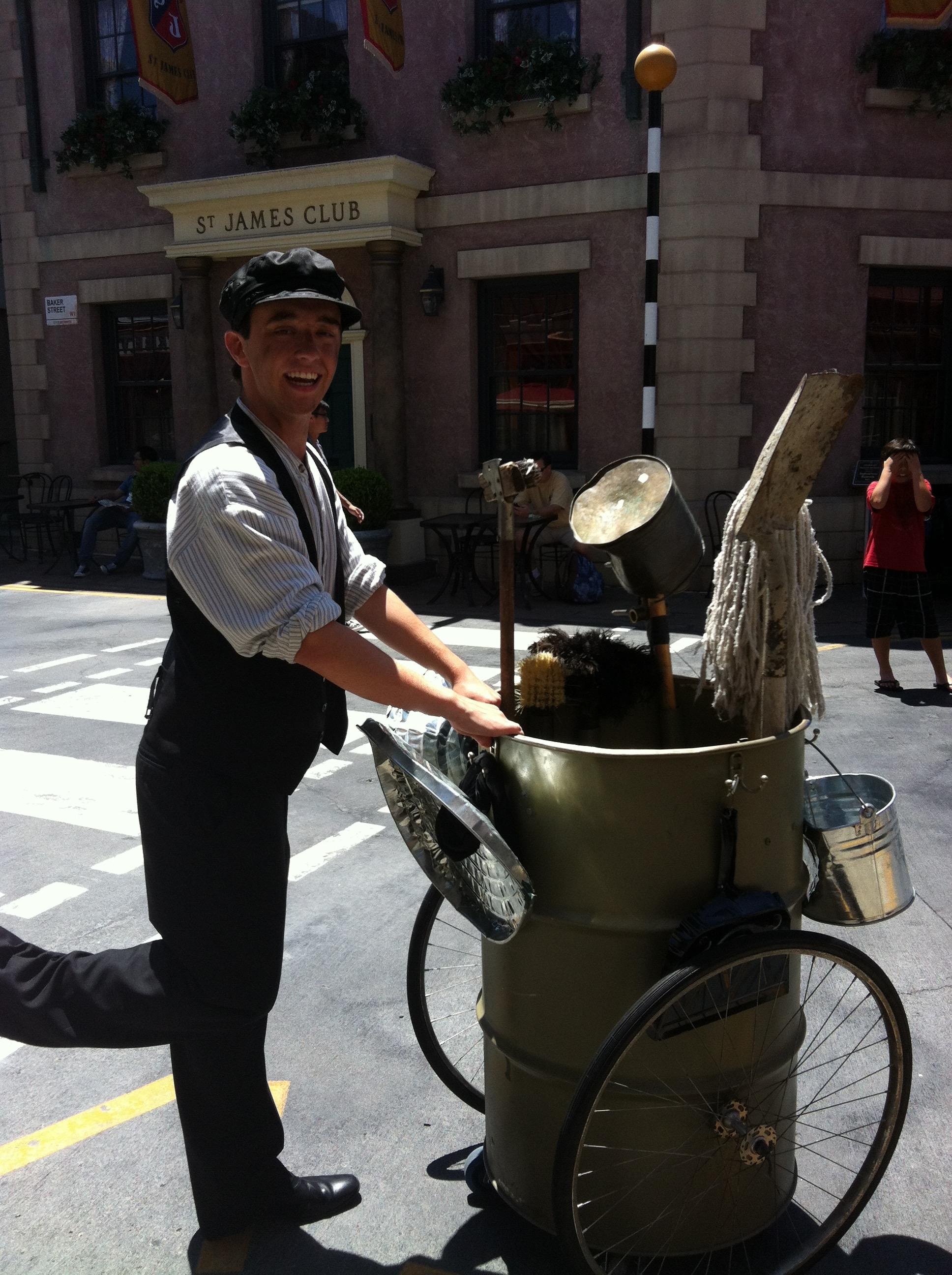 """Thomas the Dustman"", Strolling Entertainer, Universal Studios Hollywood"