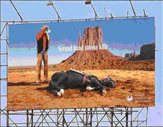 The Marlboro man mourns his horse killed by second hand smoke