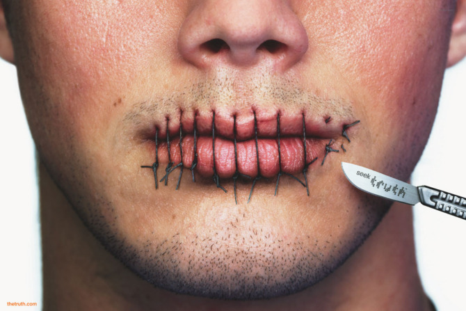 This  truth  ad encouraged young people to speak the truth about the tobacco industry.  Credit
